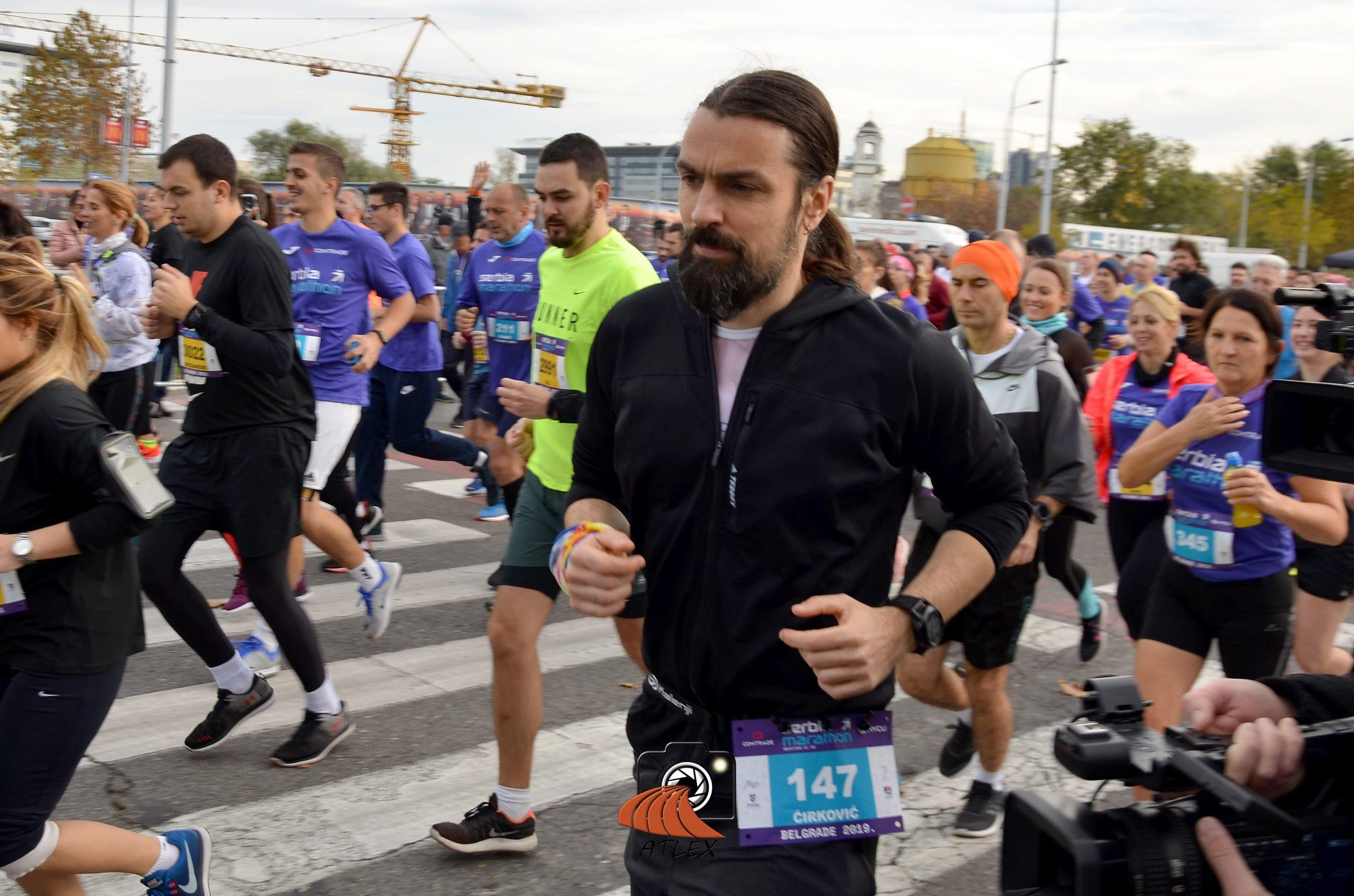 Boško Ćirković Škabo istrčao je 42 kilometra na prvom Serbia Marathon-u
