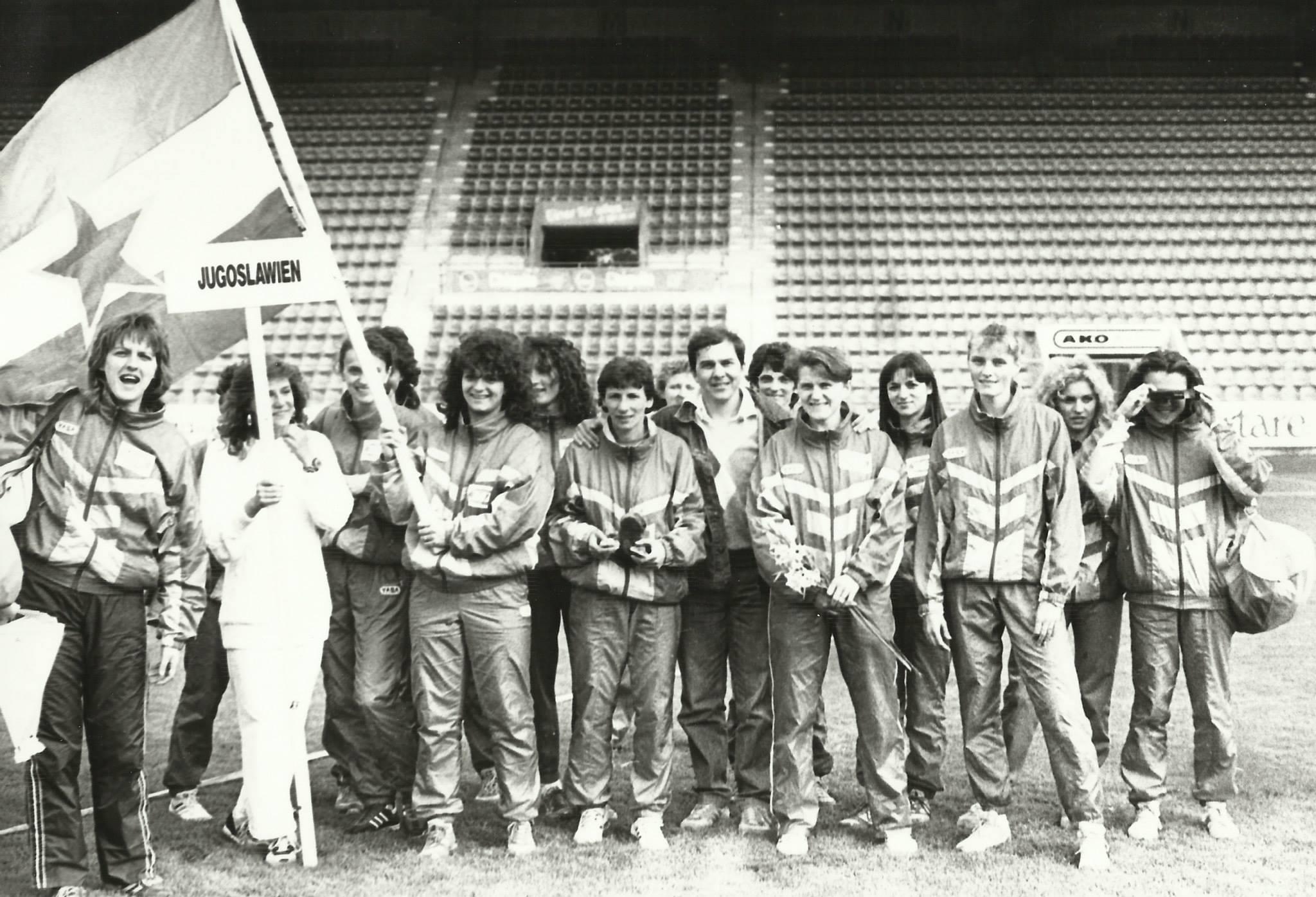 Ženska ekipa AK Crvene zvezde na Kupu šampiona 1989. u Cirihu