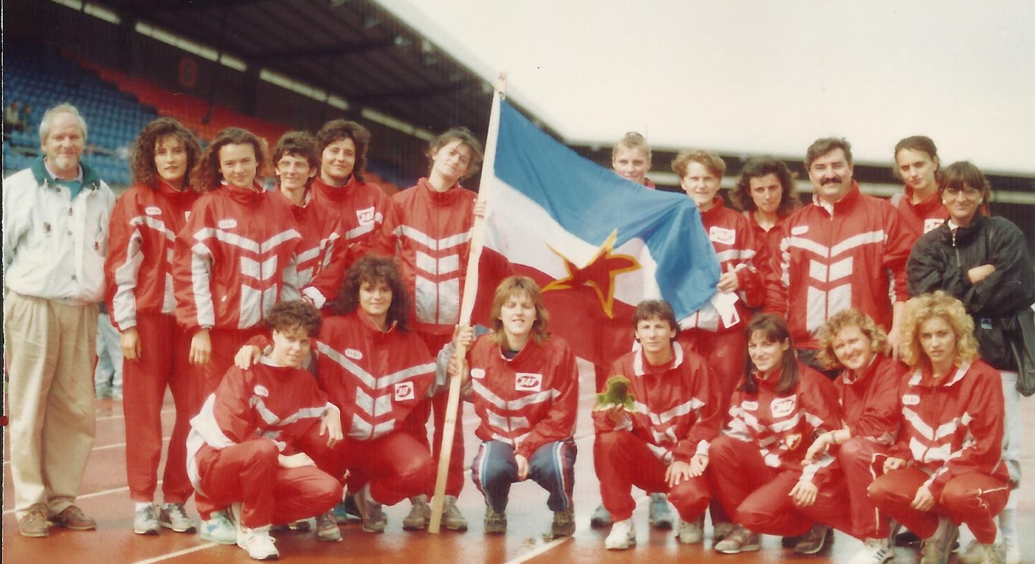 Ženska ekipa Zvezde u Cirihu na KEŠ-u 1989