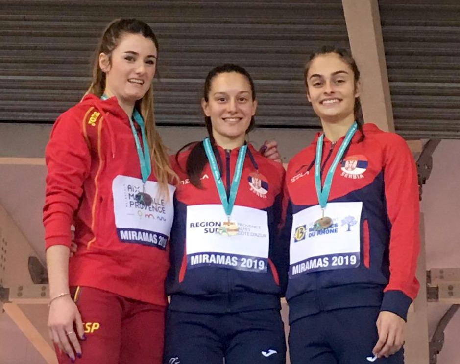Anja Lukić i Milica Emini na pobedničkom postolju na Mediteranskom šampionatu