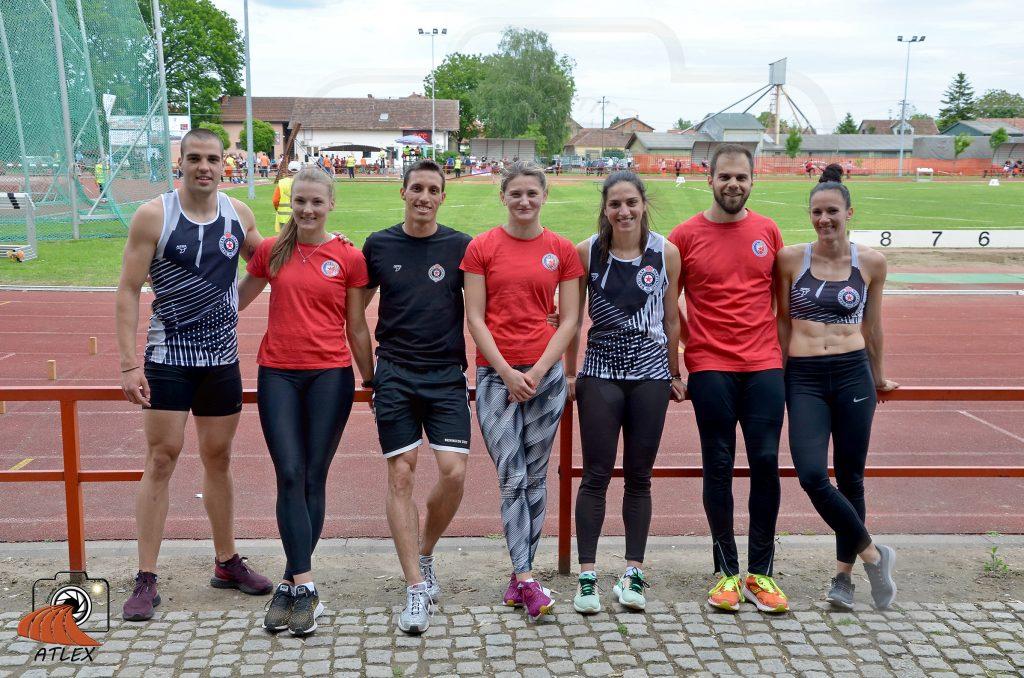Atletičari Crvene zvezdde i Partizana