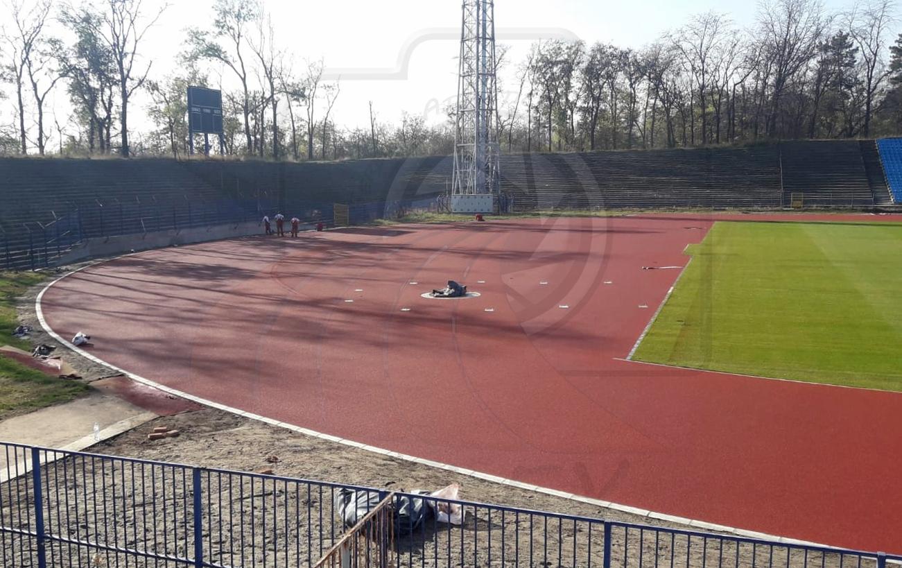 Atletska staza na stadionu u Subotici