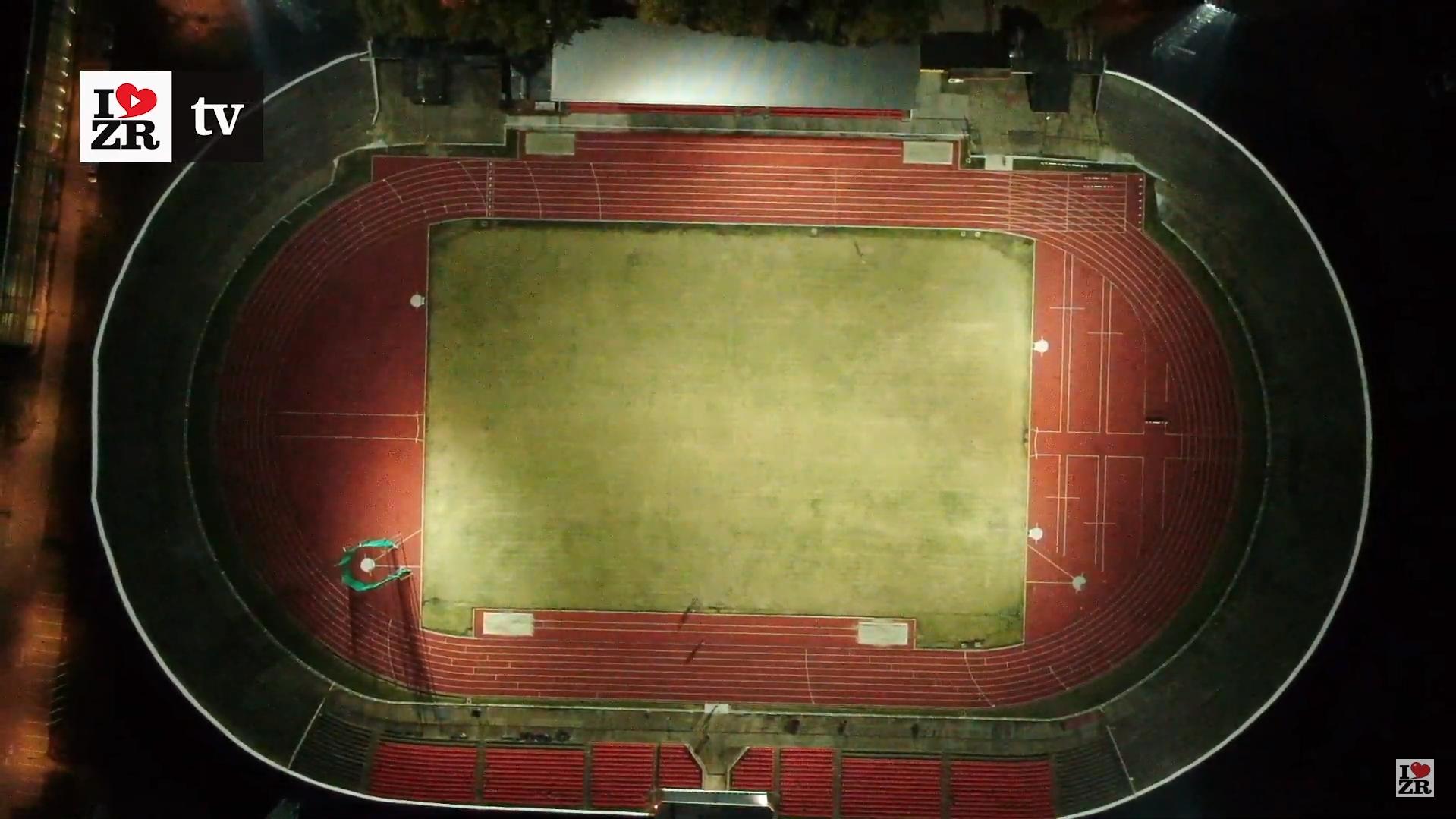 Atletski stadion u Zrenjaninu iz vazduha