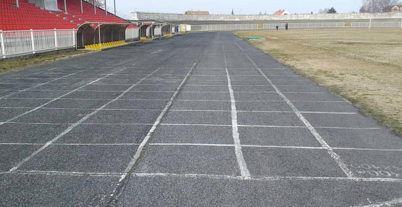 Atletski stadion u Zrenjaninu, pre rekonstrukcije