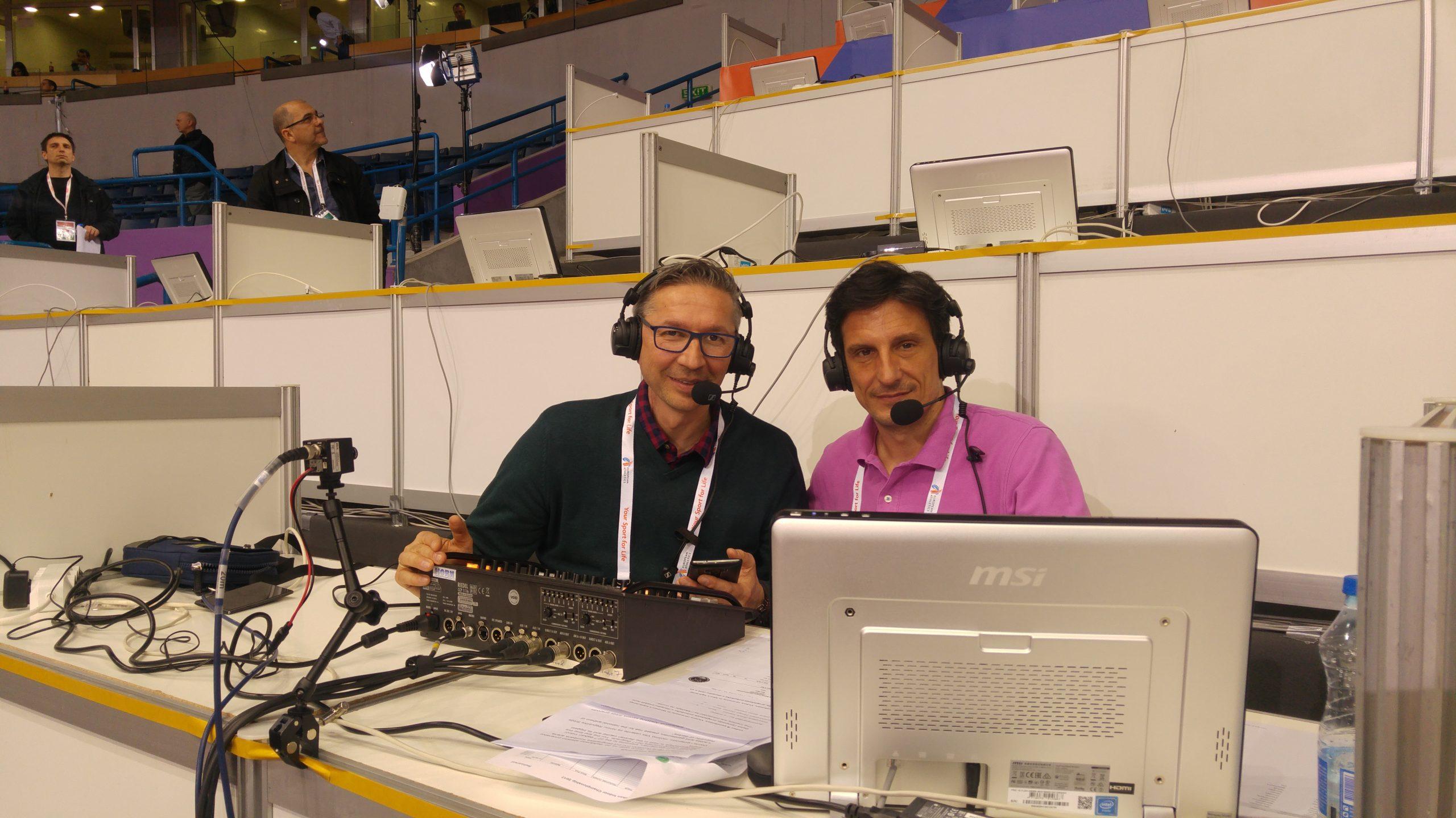 Dejan Pantelić i Vlada Mijaljević, spikeri na Evropskom prvenstvu u Beogradu 2017