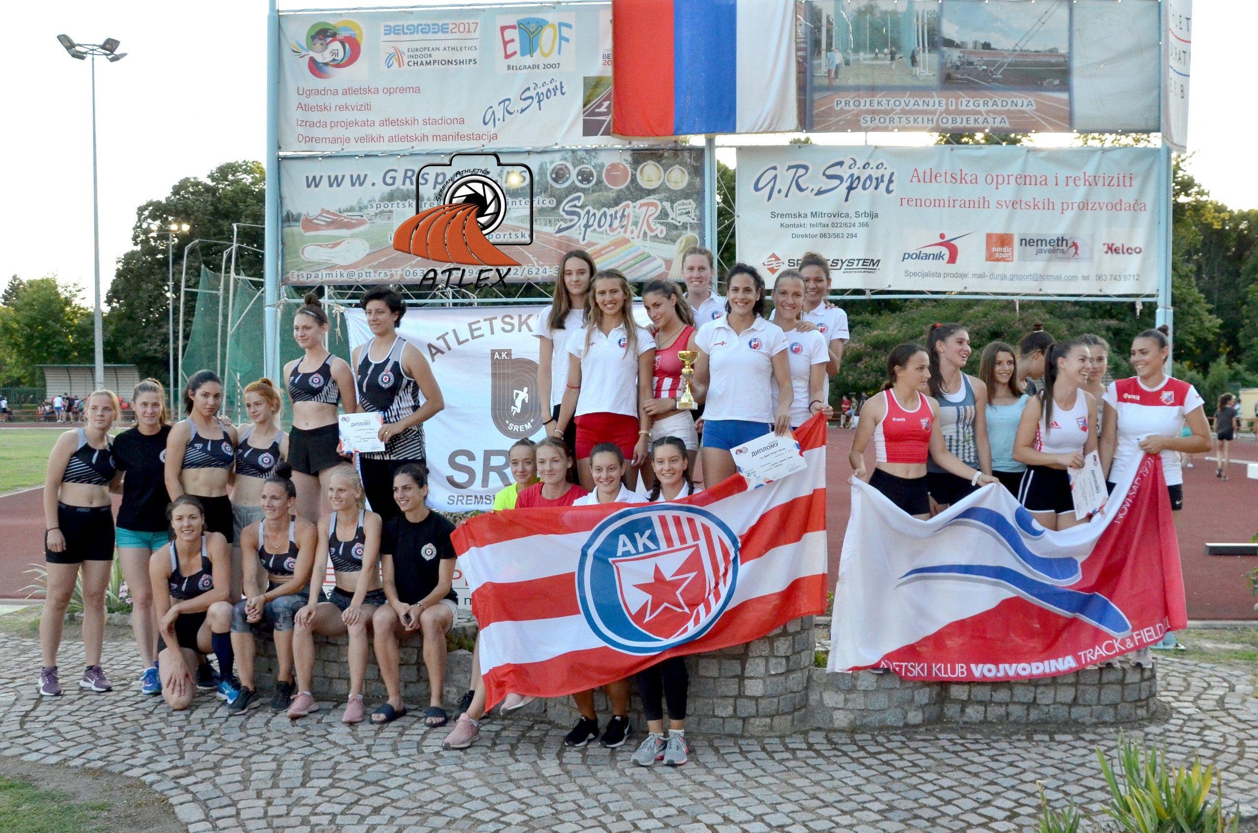 Atletičarke Crvene zvezde prvakinje Srbije 2019.