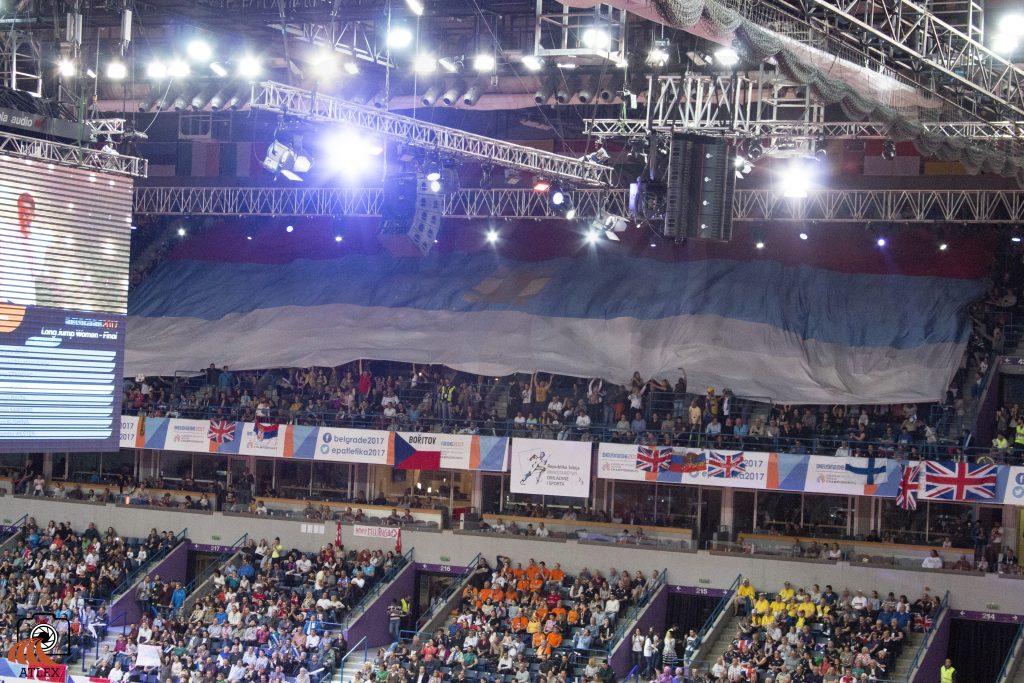 Evropsko prvenstvo Beograd 2017, srpska zastava