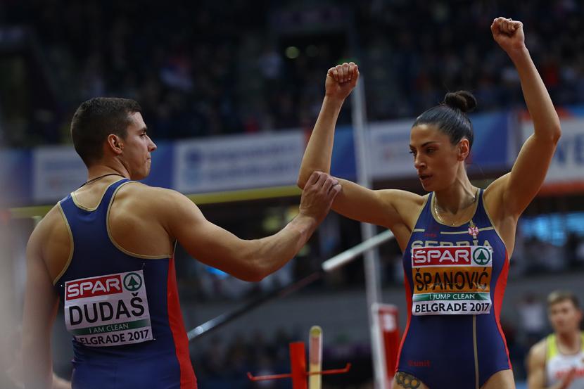 Mihail Dudaš i Ivana Španović