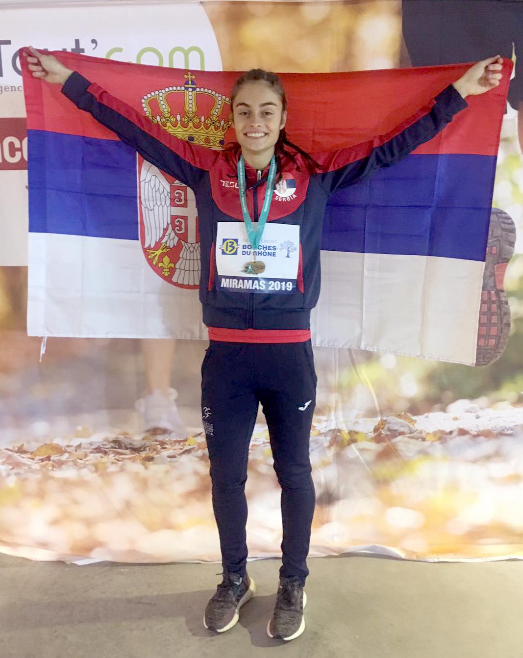 Milica Emini, osvajačica bronzane medalje na 60m sa preponama, U23 Mediteranski šampionat