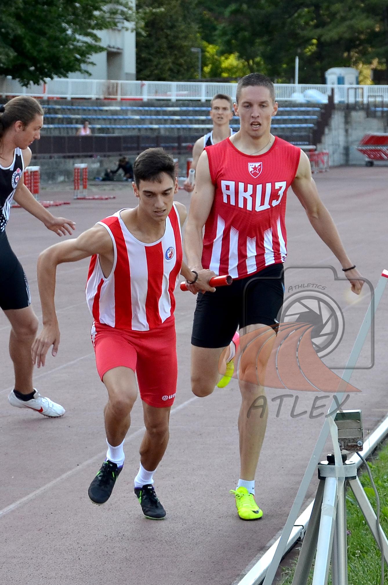 Miloš Raović i Miloš Marković, štafeta 4x400 metara AK Crvena zvezda