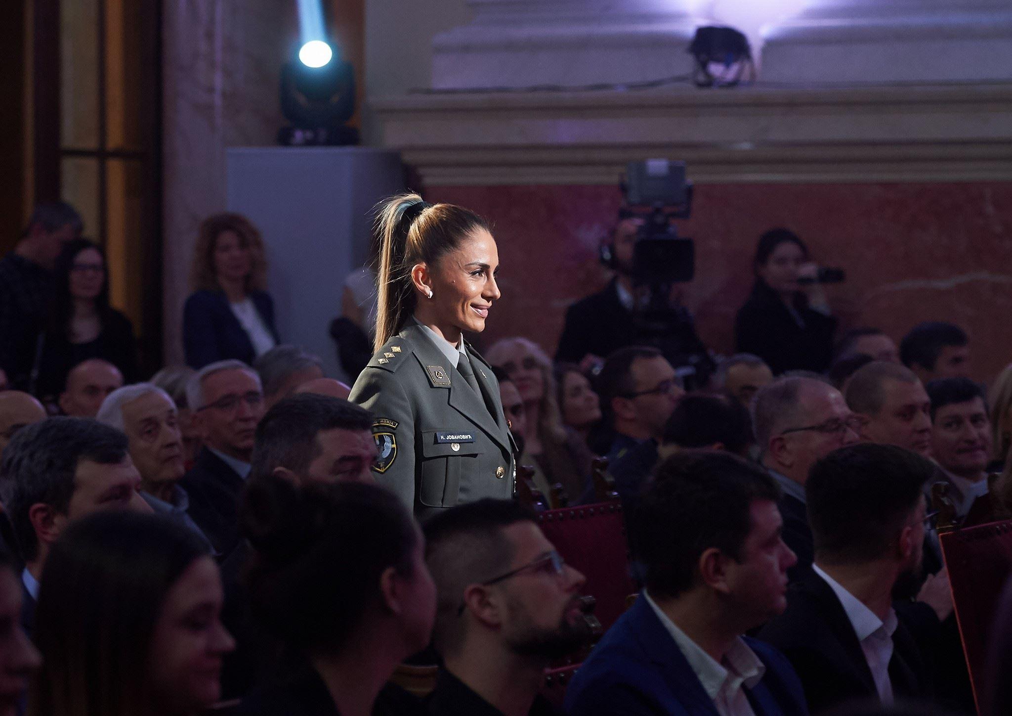 Nevena Jovanović, najbolja sportiskinja vojske Srbije 2018.