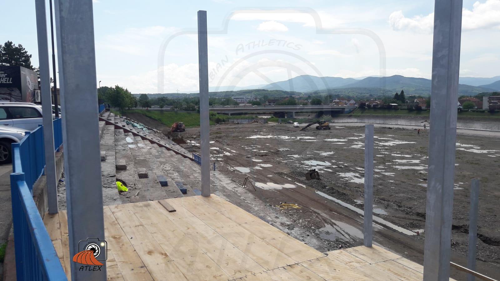 Kraljevo - atletski stadion u izgradnji 2019