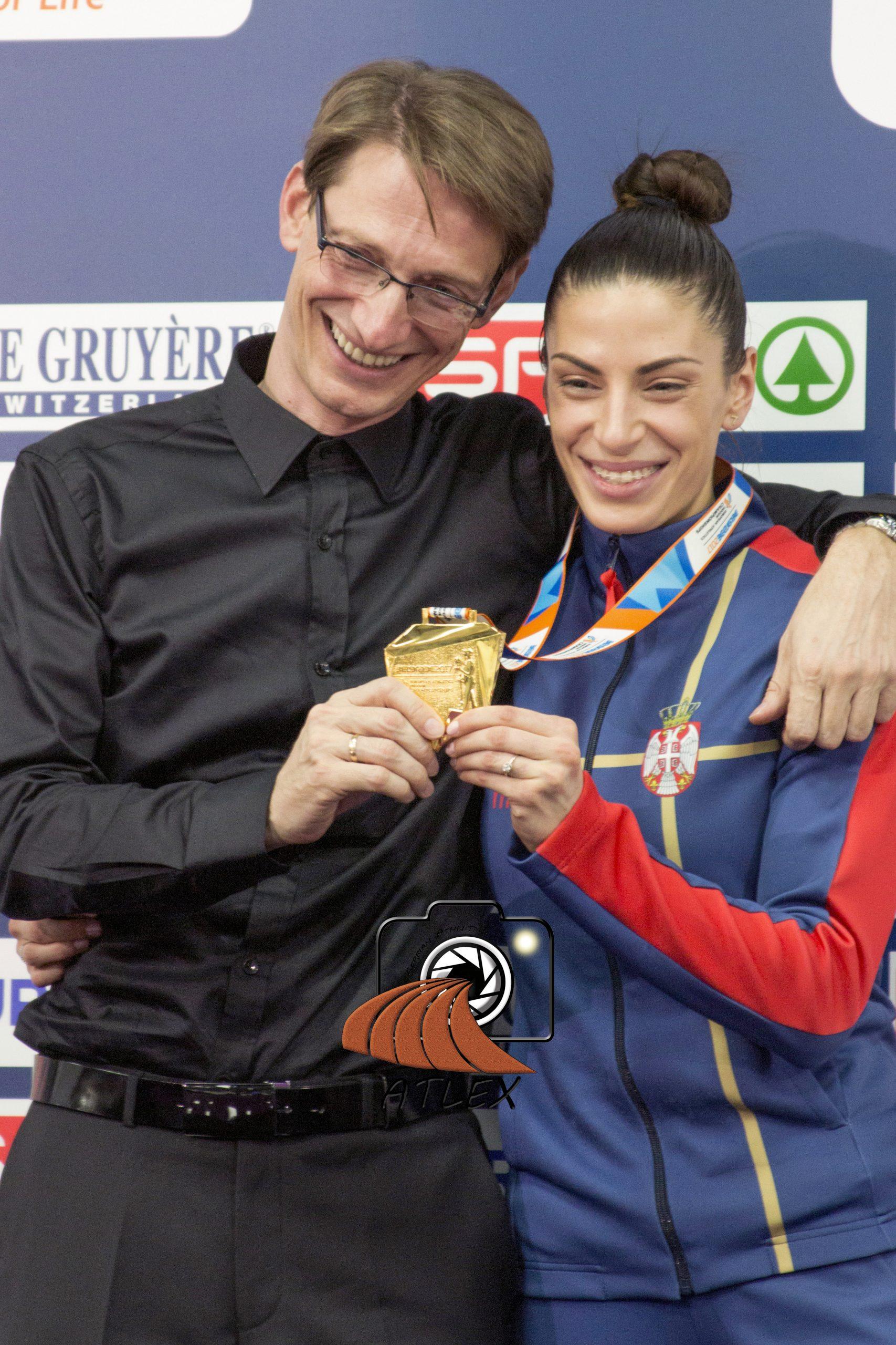 Goran Obradović i Ivana Španović, zlato EP 2017