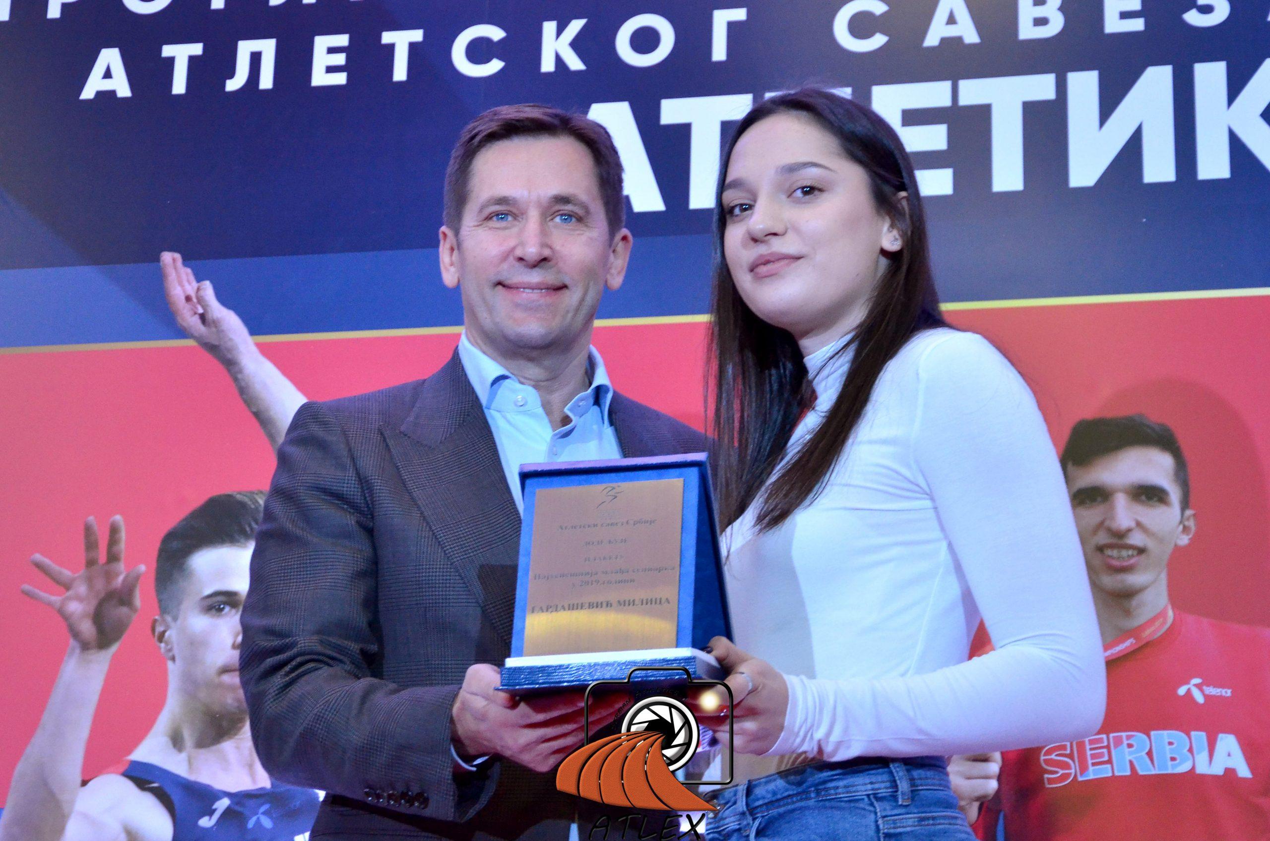 Milica Gardašević, najbolja mlađa saeniorka Srbije u 2019.