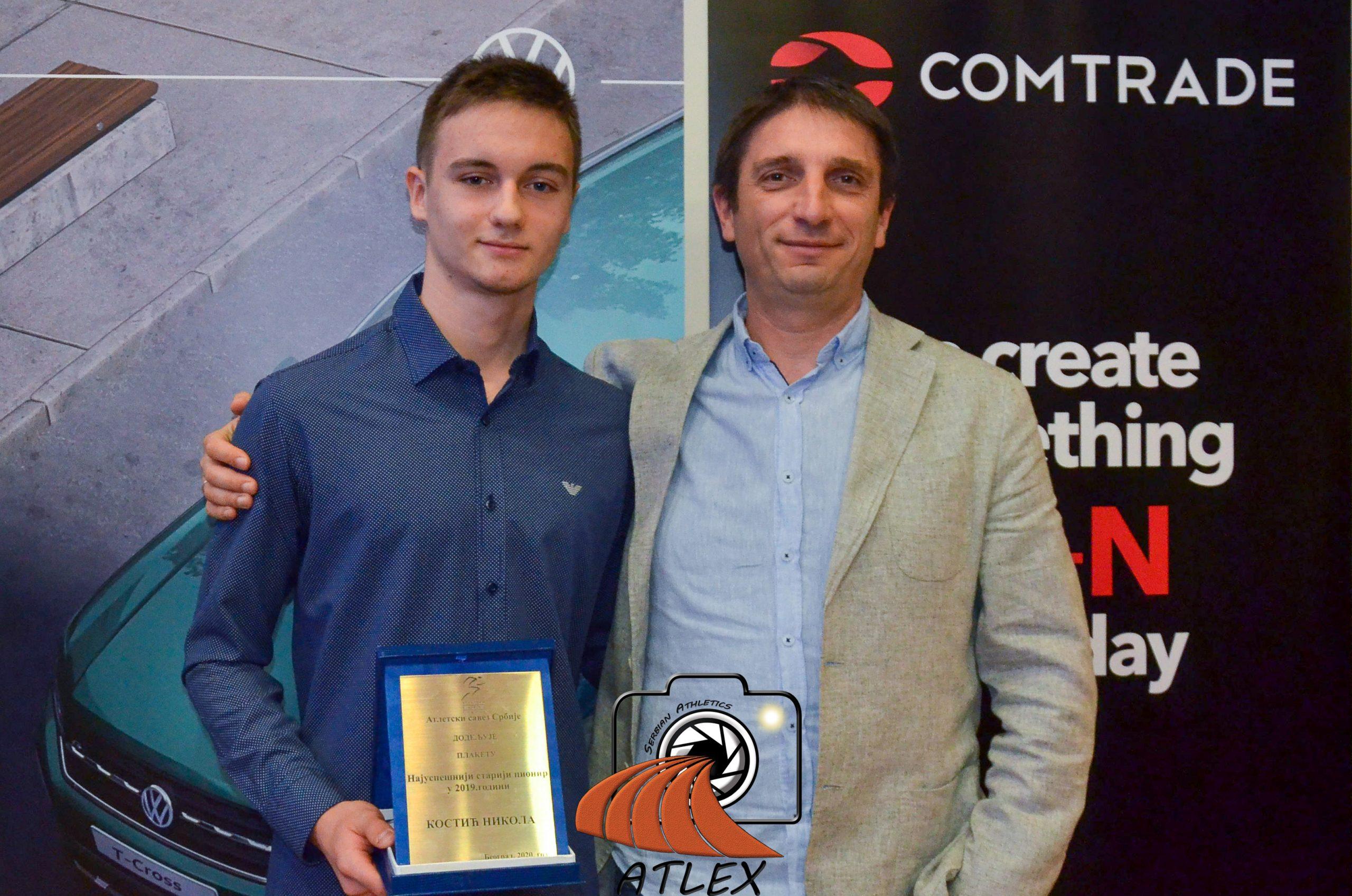 Nikola Kostić sa trenerom