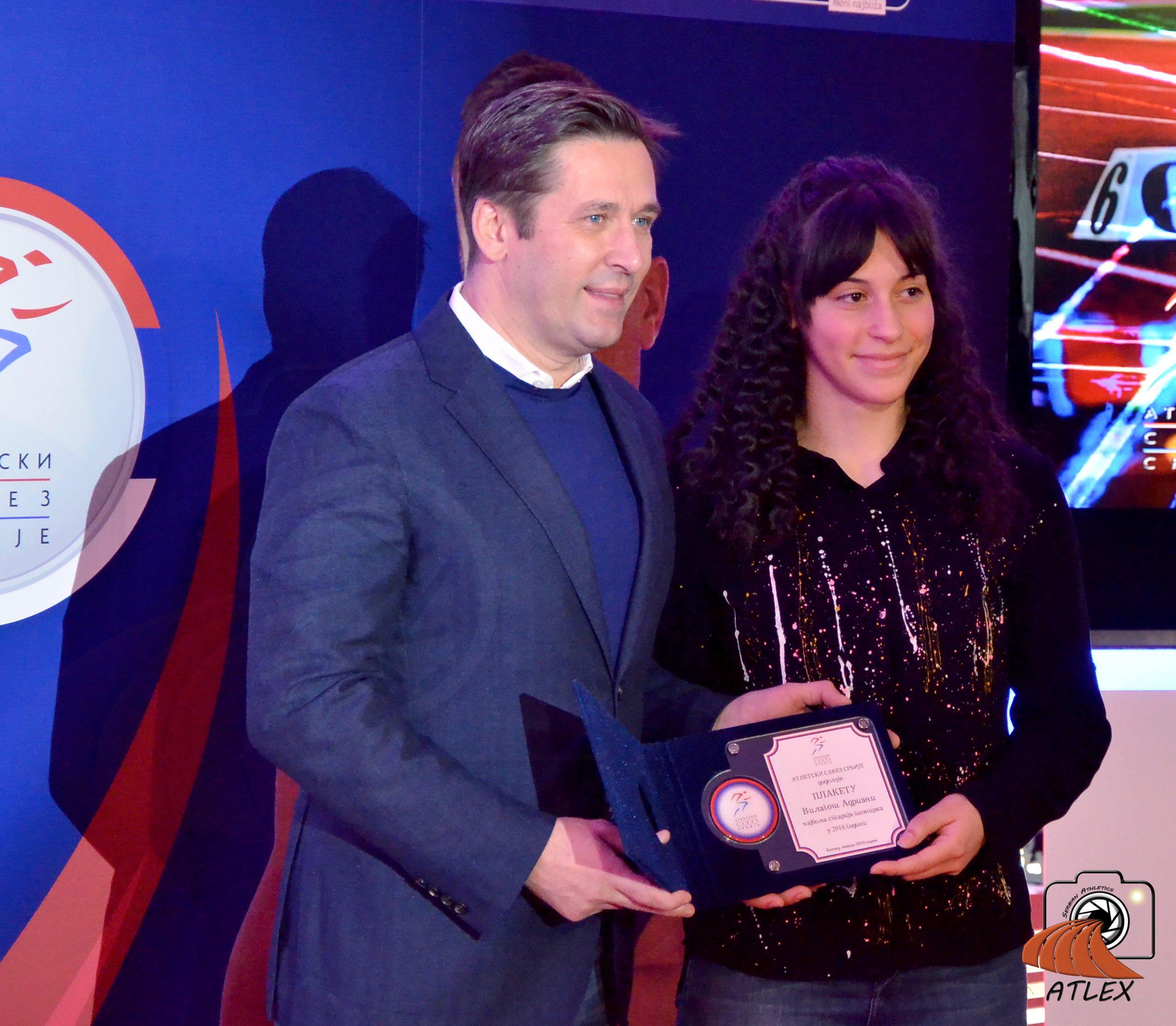 Adriana Vilagoš najboljaatletičarka Srbije 2018.