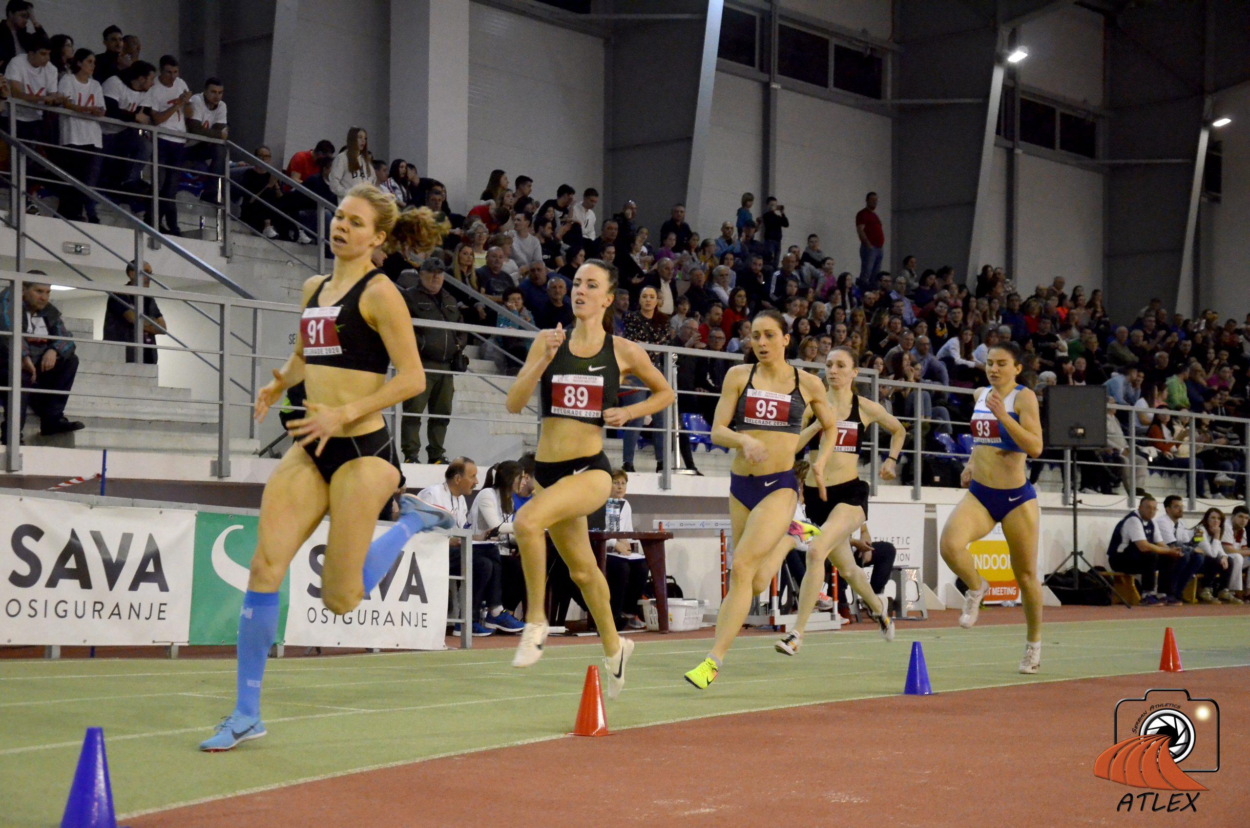 Diana Mezulianikova, Suzan Voorips, Jelena Gajić, 5. Serbian open indoor meeting 2020