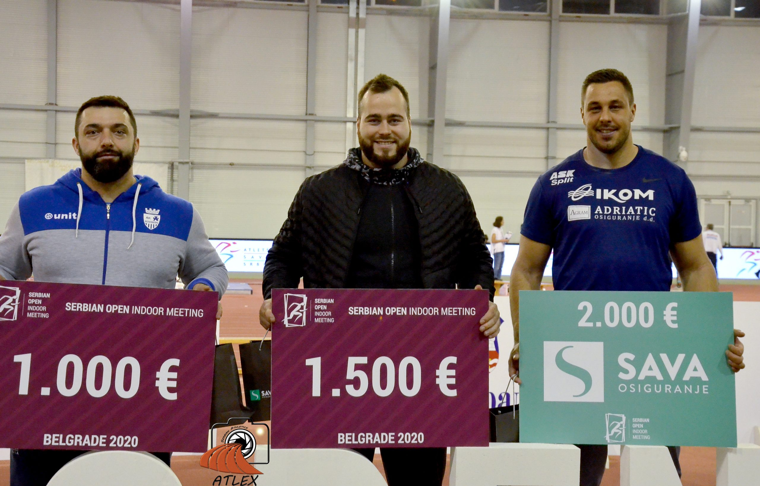 Tri najbolja atletičara na 5. Serbian Open 2020