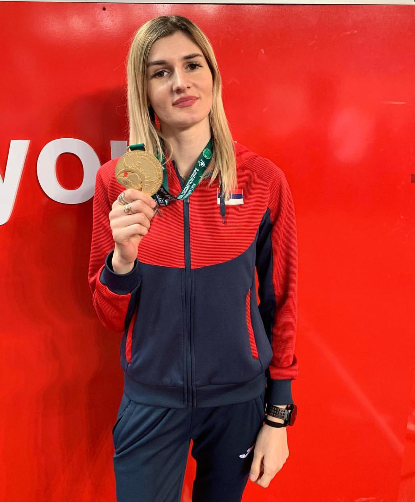 Amela Terzić, zlatna medalja na dvoranskoj balkanijadi 2019