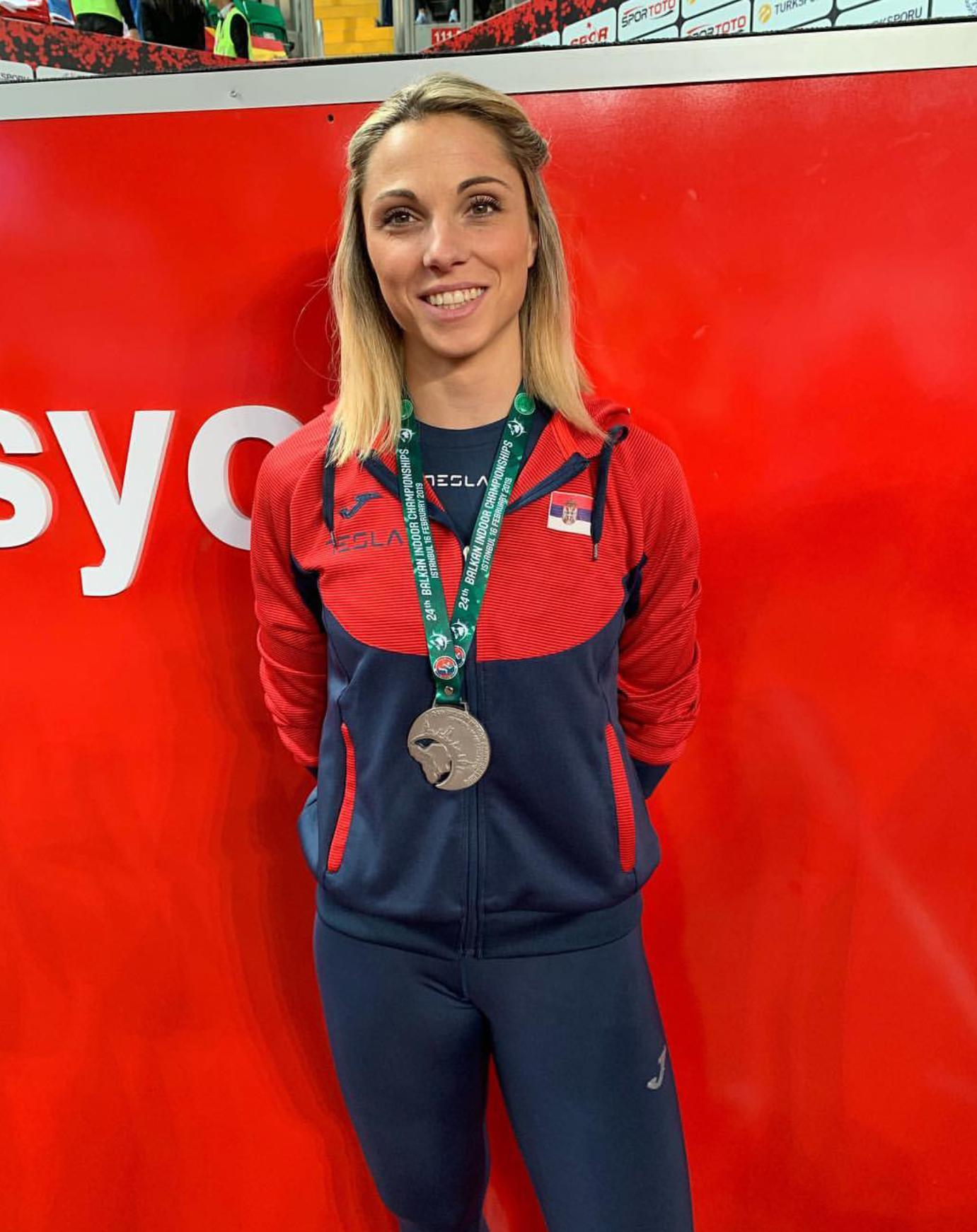 Maja Ćirić, srebrna medalja na dvoranskoj balkanijadi 2019