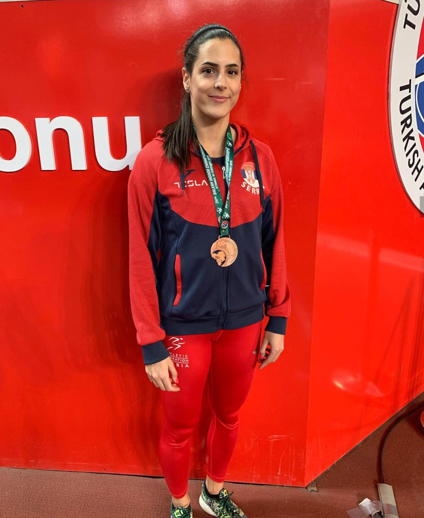 Milana Tirnanić, srebrna medalja na dvoranskoj balkanijadi 2019