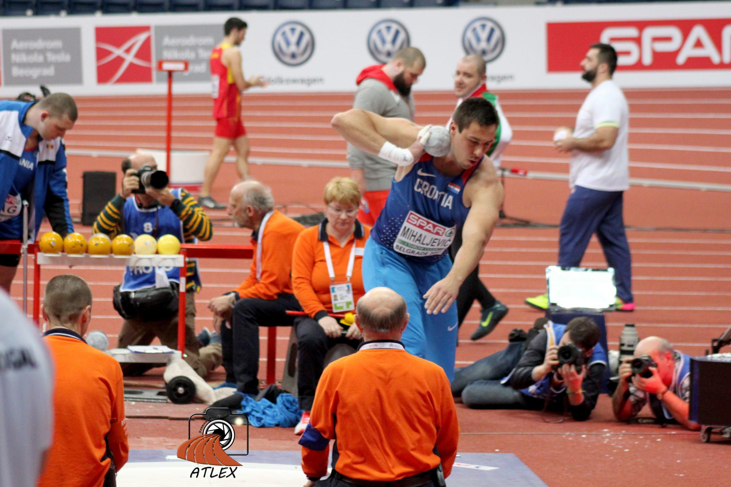 Filip Mihaljević, bacanje kugle, dvoransko prvenstvo Evrope 2017, Beograd