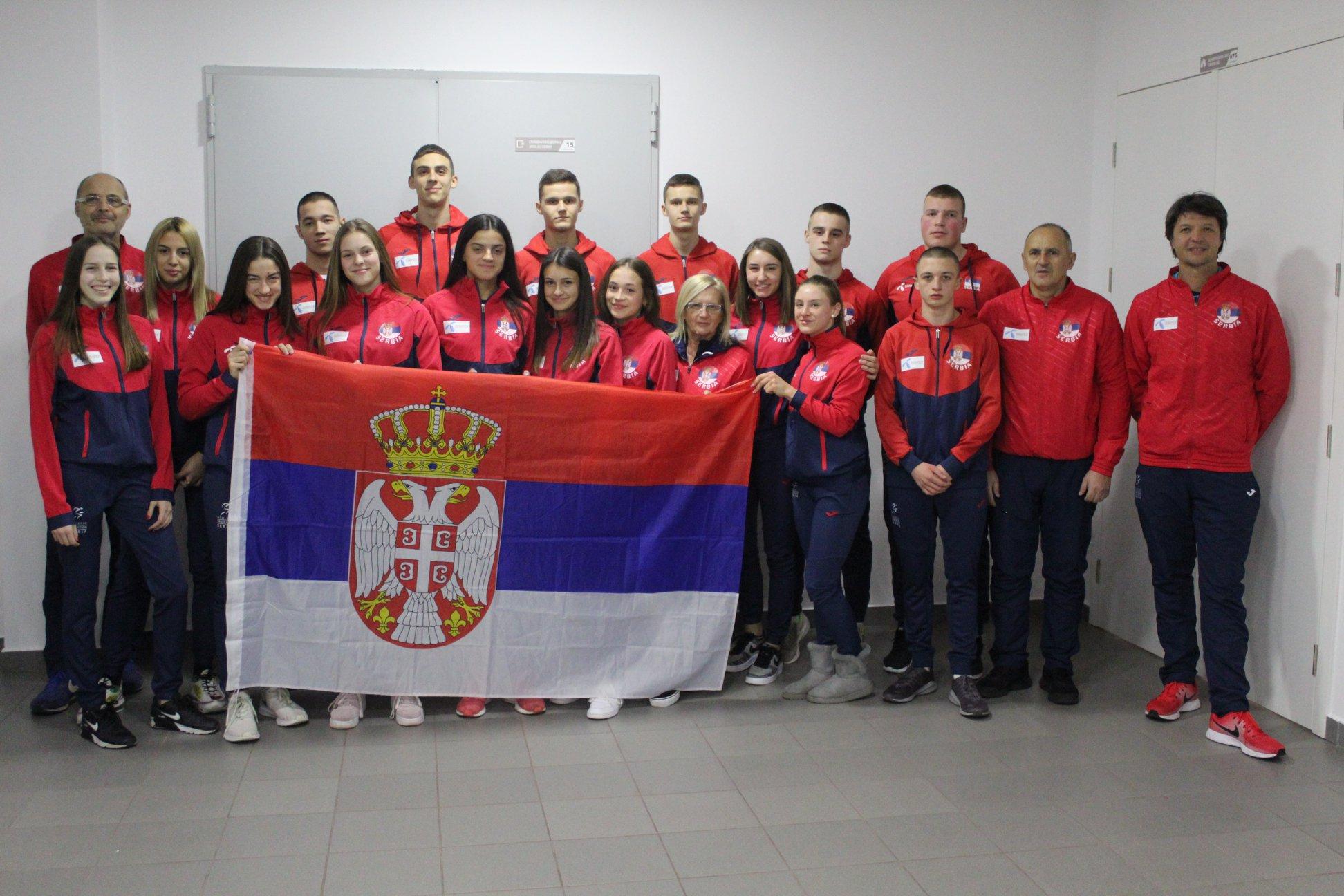 Juniorska reprezentacija Srbije za dvoransko prvenstvo Balkana 2020