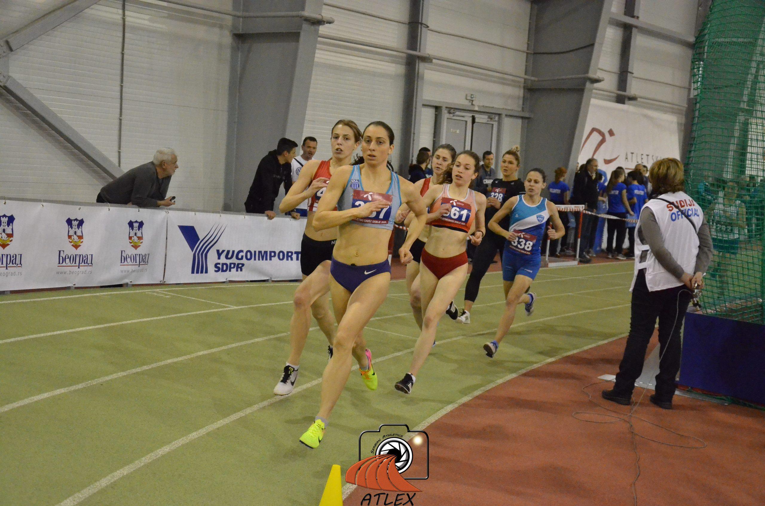 Marija Stambolić i Katarina Milosavljević, 1500 metara, Dvoransko prvenstvo Srbije