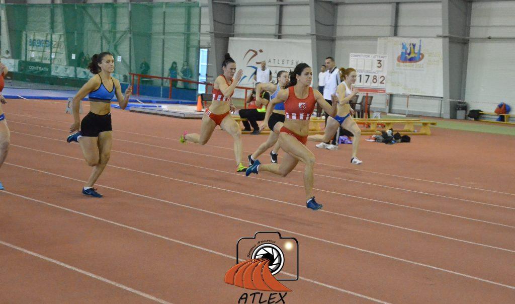 Milana Tirnanić, 60 metara, Dvoransko prvenstvo Srbije