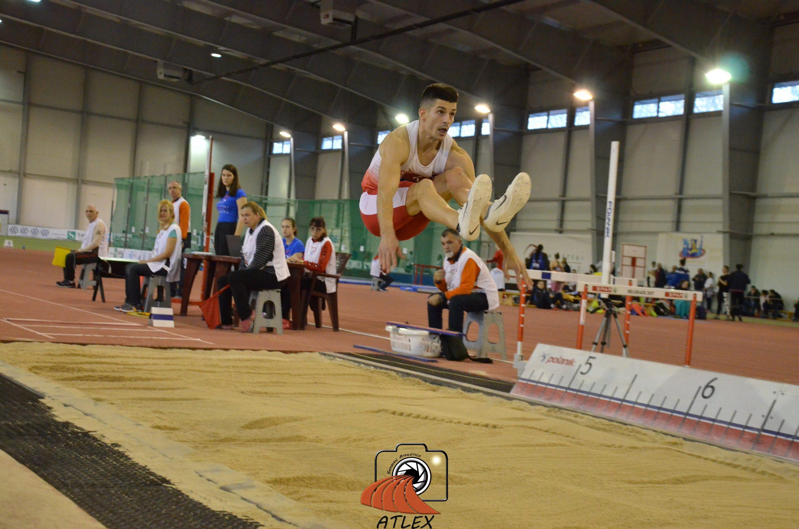 Lazar Anić, skok udalj, Dvoransko prvenstvo Srbije