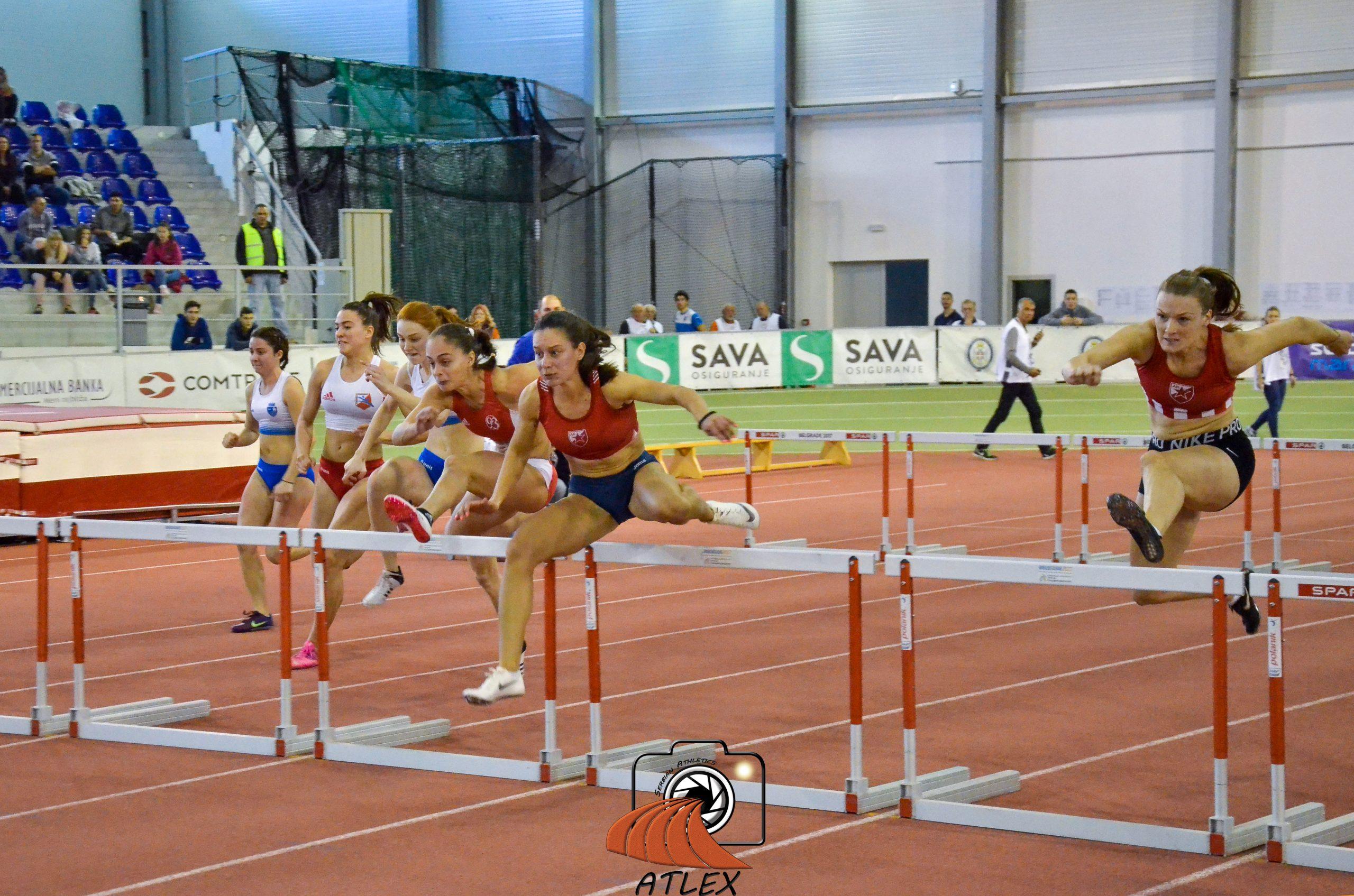 Ivana Petković, Anja Lukić, Milica Emini, 60 metara prepone, Dvoransko prvenstvo Srbije