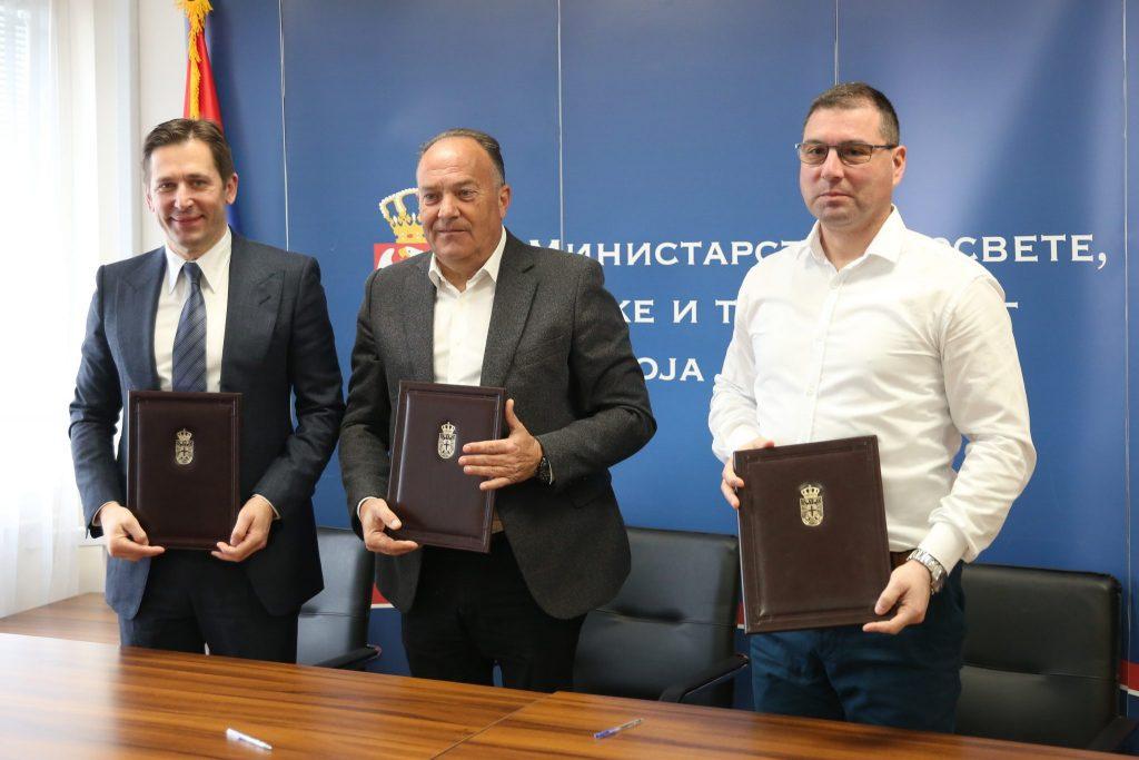 Ugovor o ulasku atletike u osnovne škole, Jevrosimović, ministar Šarčević, Stošić