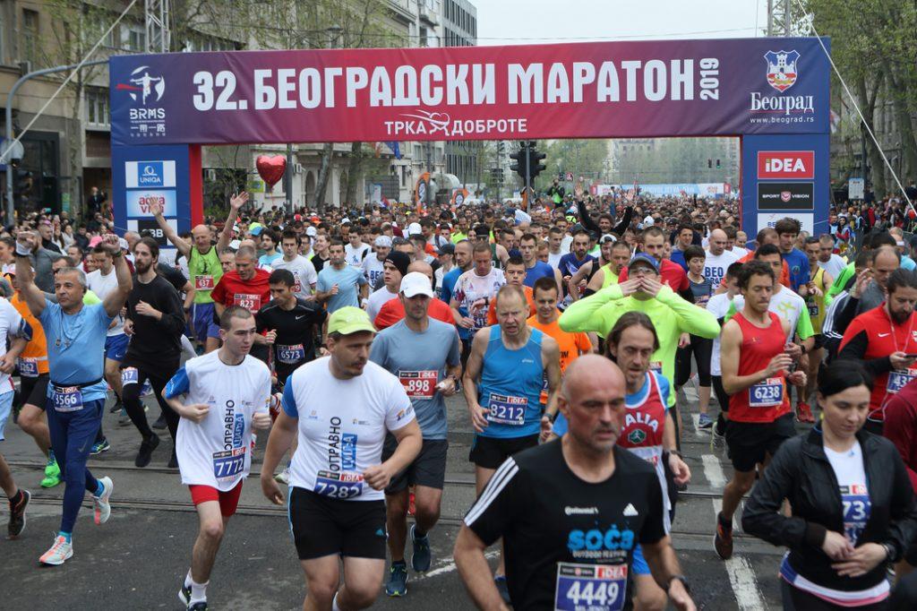 start 32. Beogradskog maratona 2019.