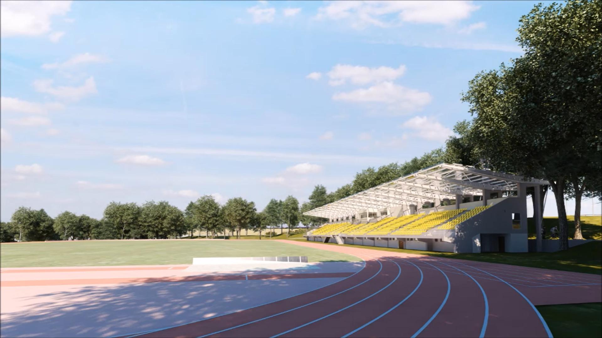 Budući izgled atletskog stadiona u Košutnjaku