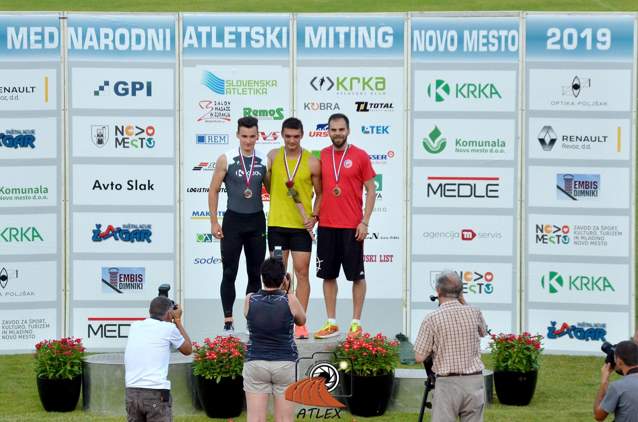 Pobednici trke na 100m - atletski miting Novo Mesto 2019