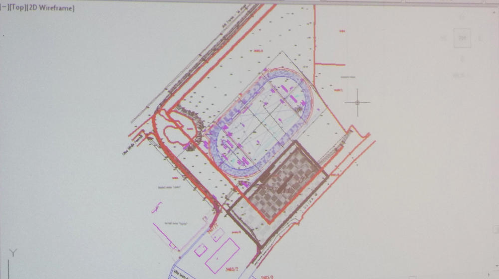 Projekat atletskog stadiona u Loznici