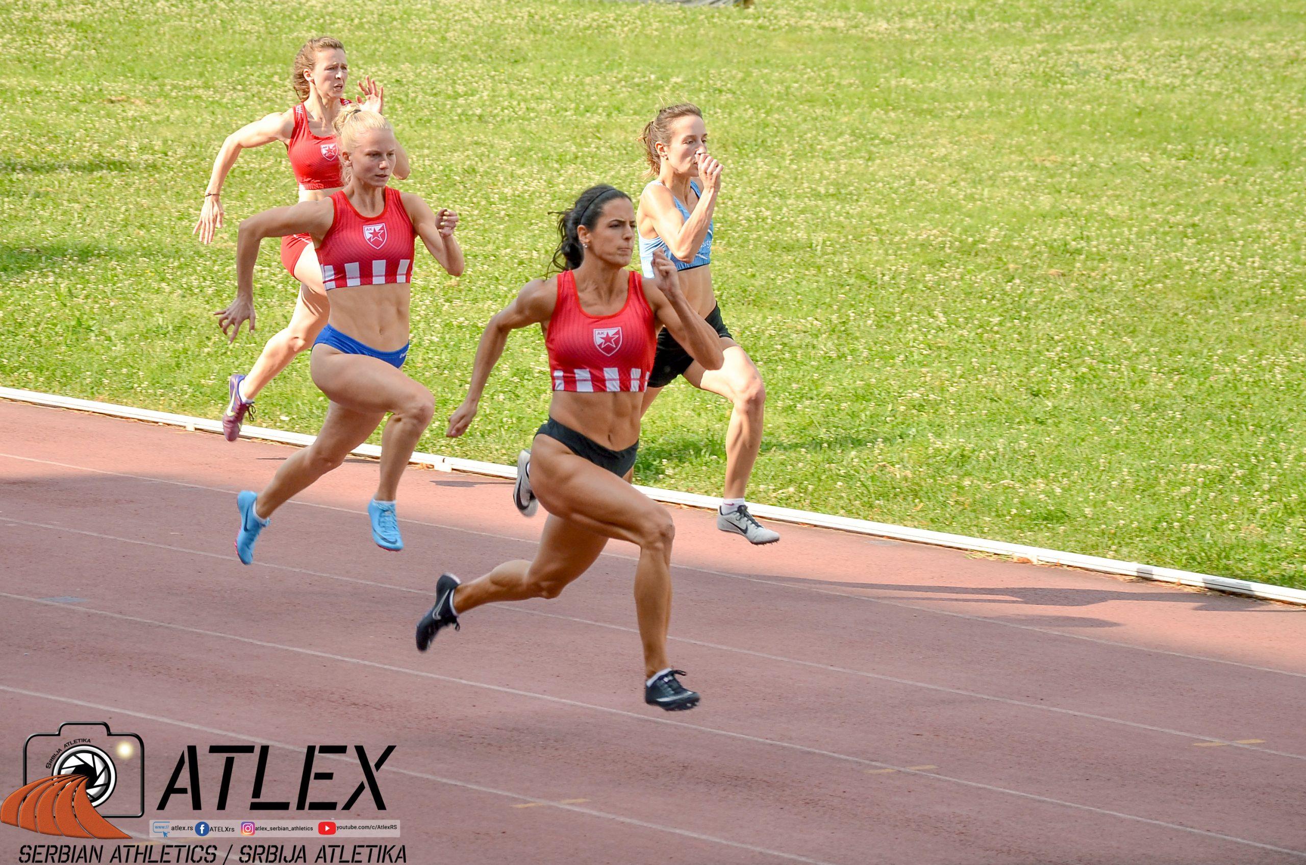 Milana Tirnanić, 100m