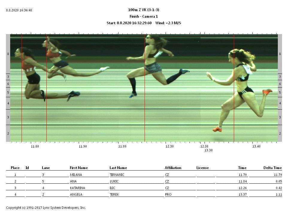 Prvenstvo BiH 2020 - 100m VK devojke