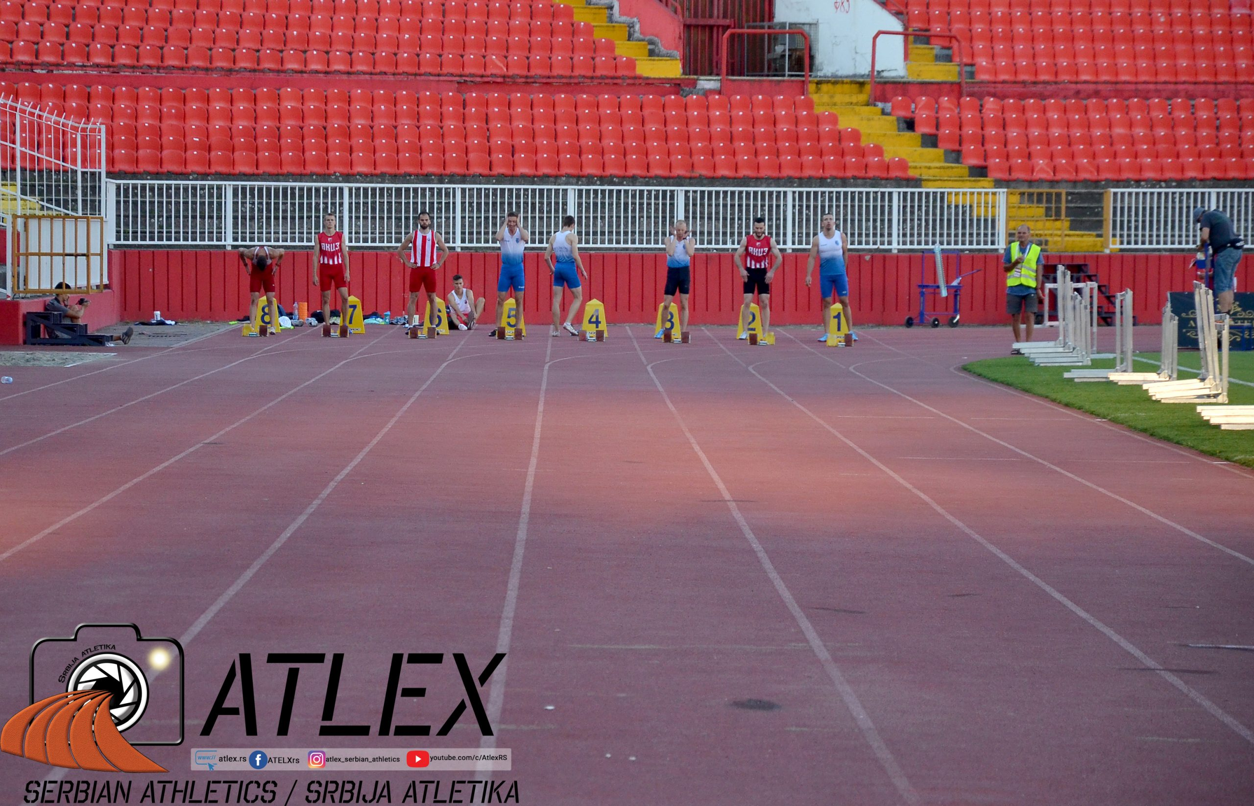 Priprema za start trke na 100m