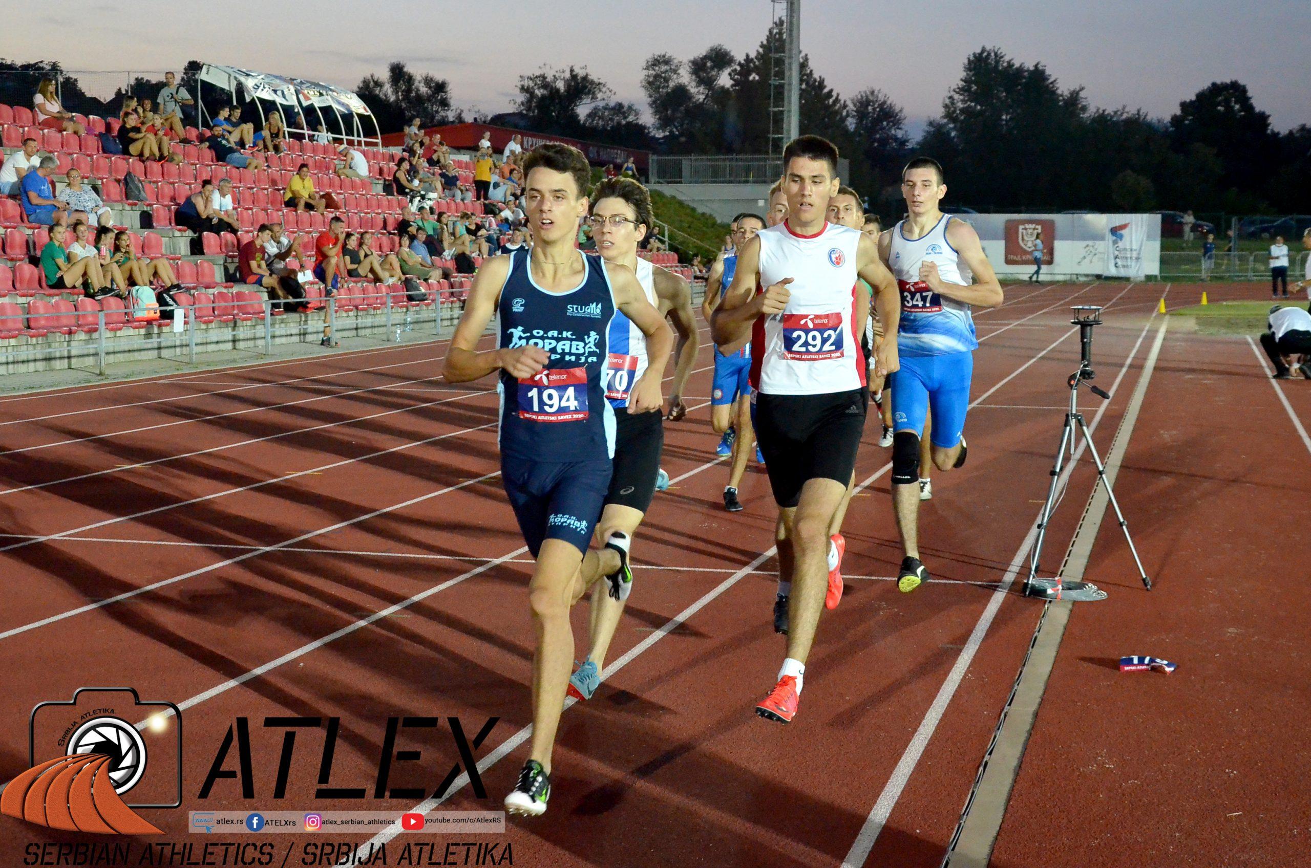 800 metara, U20 prvenstvo Srbije 2020., Tomić, Klempić, Olujić