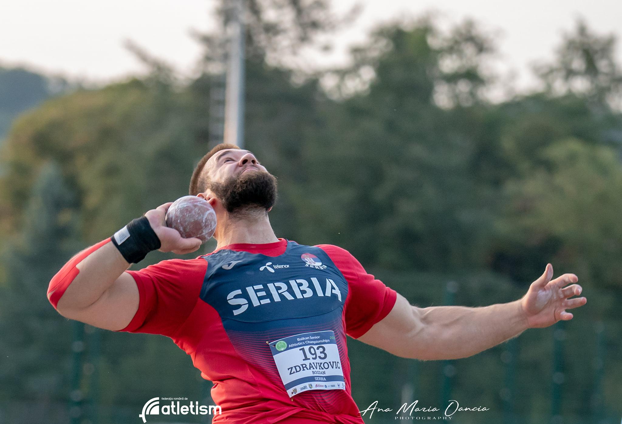 Bogdan Zdravković, bacanje kugle, Balkanijada 2020
