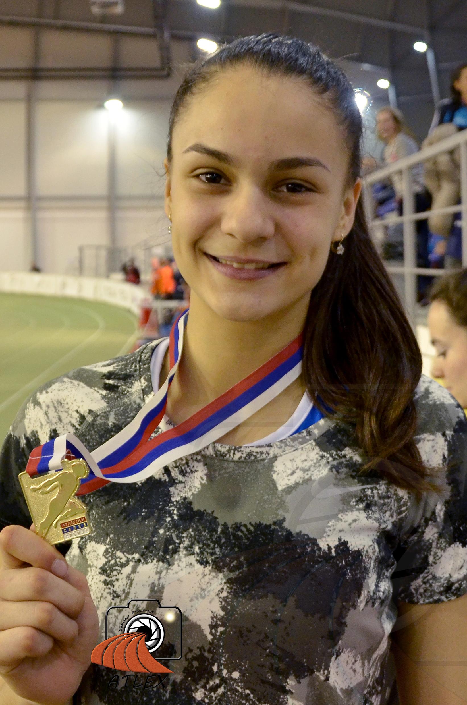 Marina Živković, seniorski prvak Srbije u dvorani u višeboju, juniorska rekorderka Srbije u dvorani u petoboju 2019