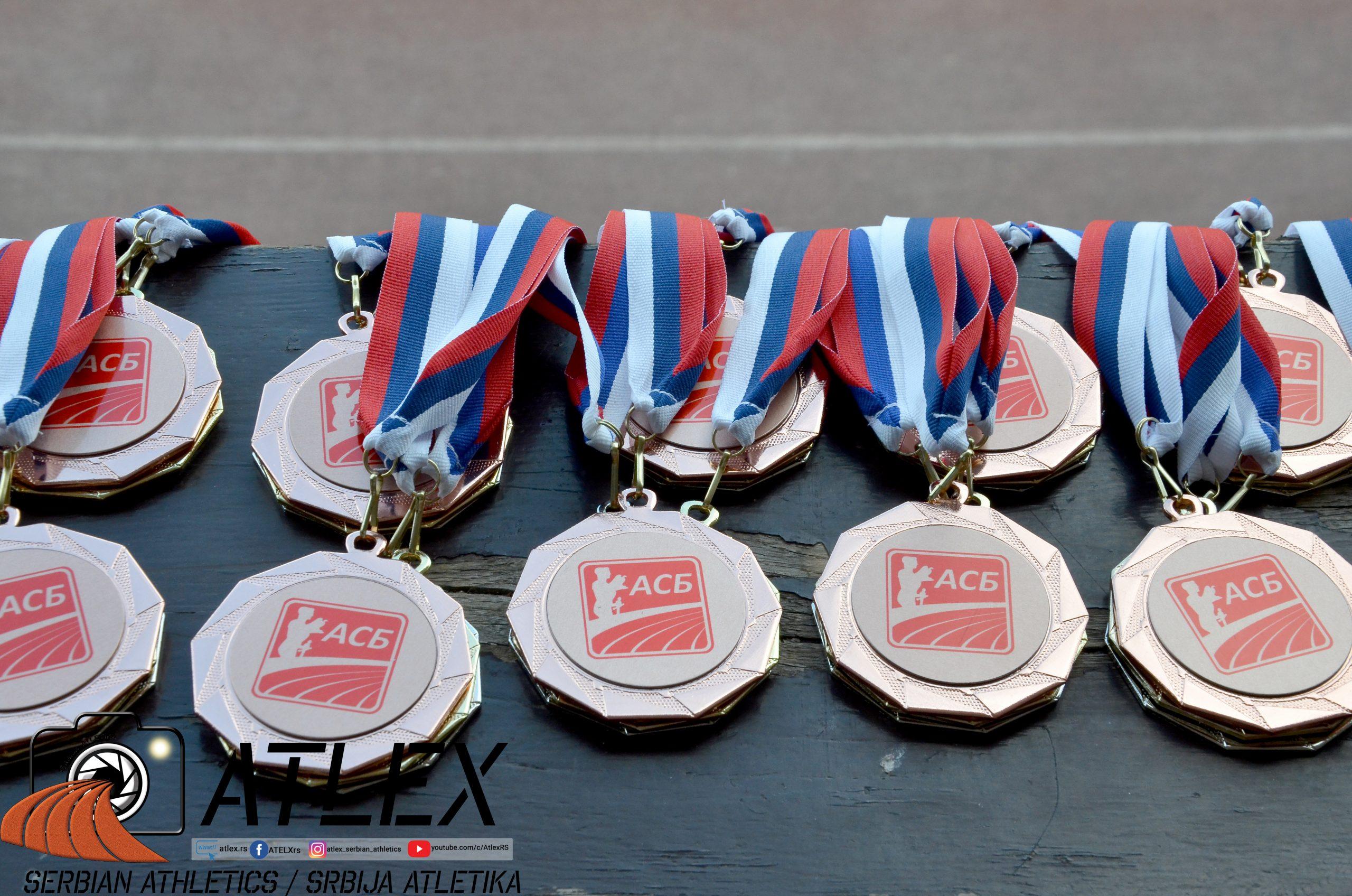 Atletski savez Beograda - medalje