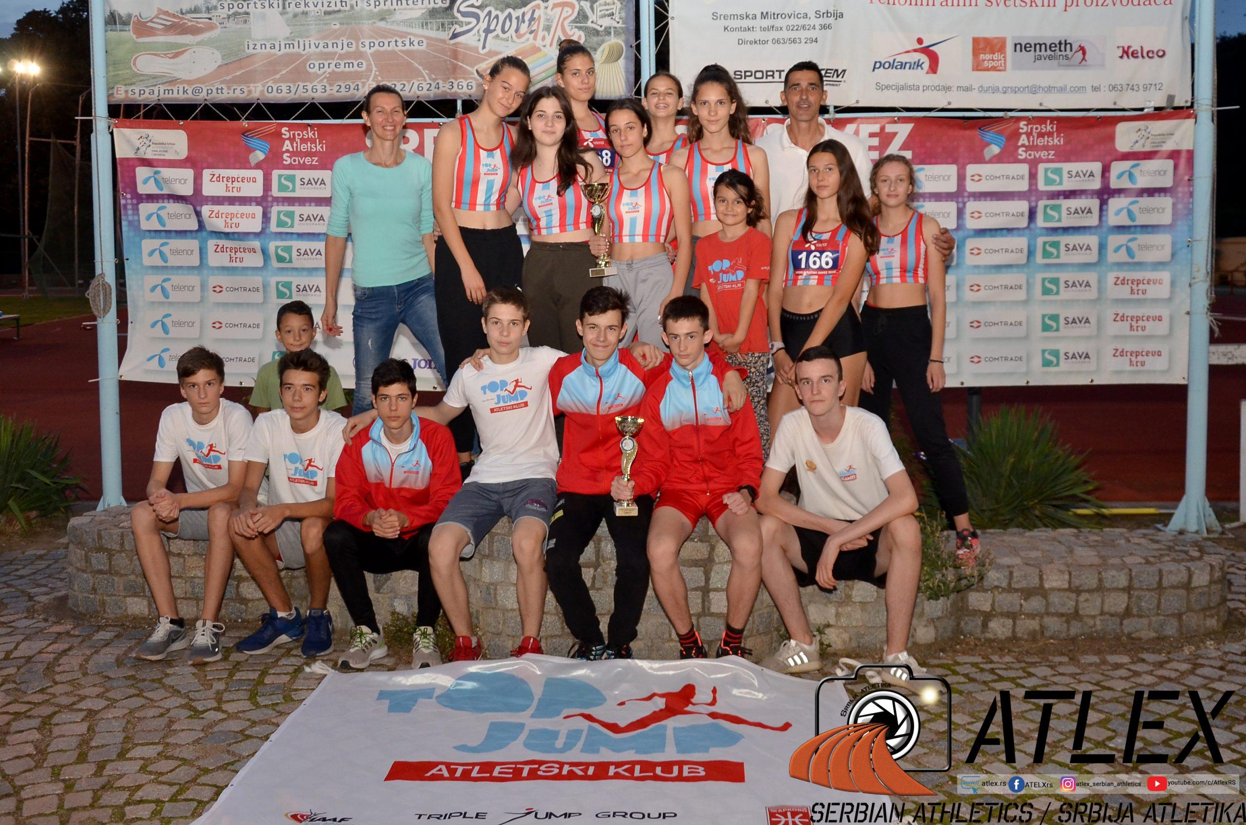Top Džamp - pionirke prvaci Srbije 2020