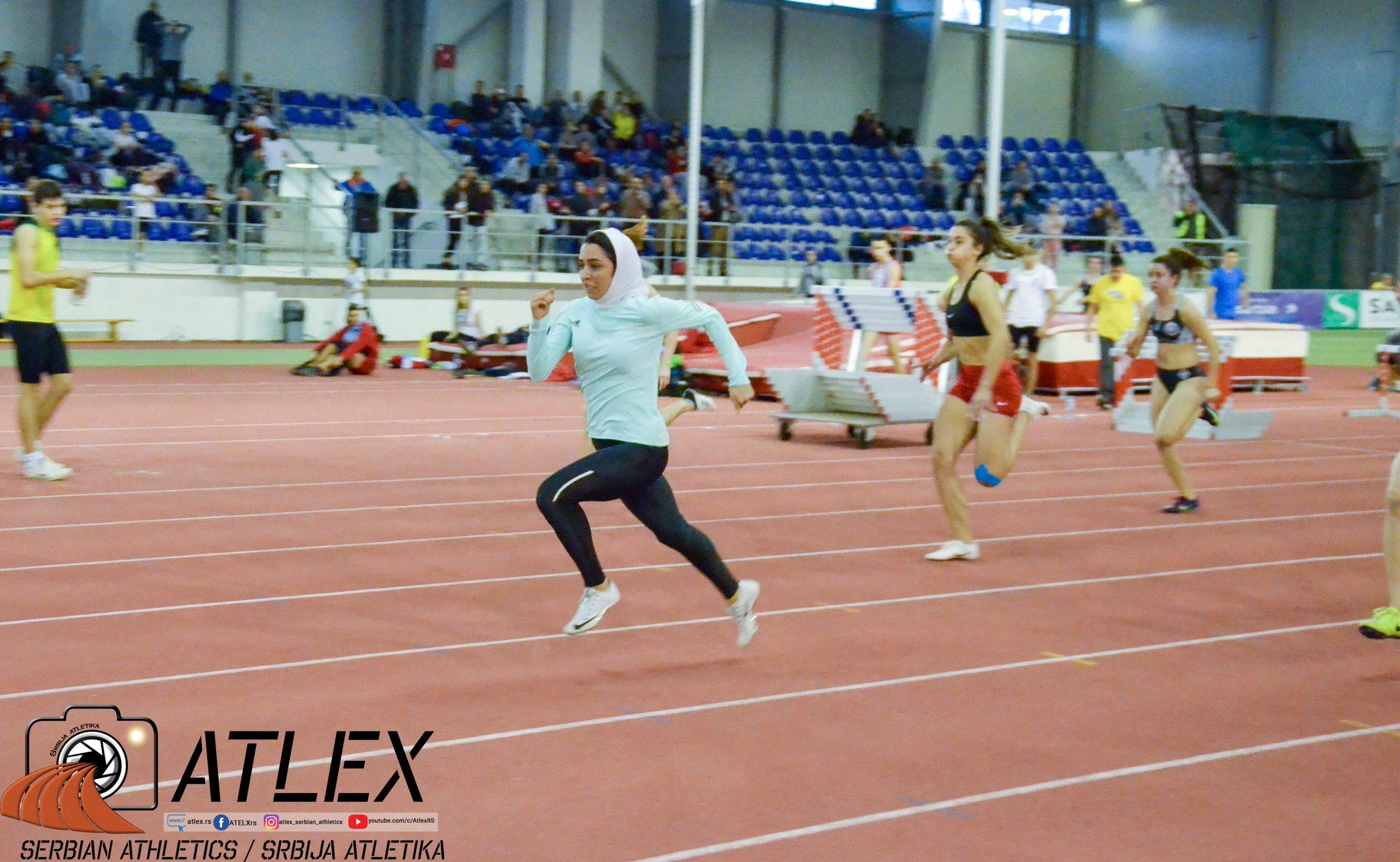 Farzaneh Fasihi (Iran), sprint, 60 metara