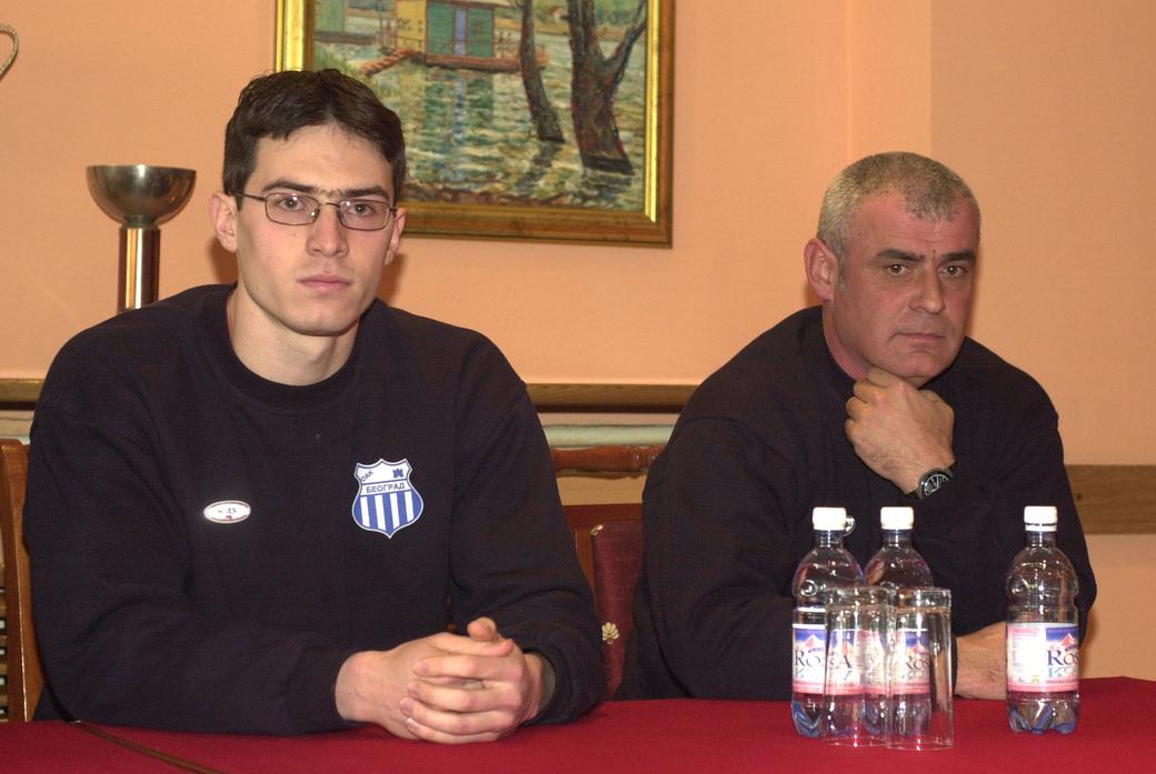 Miroslav Novaković i Zoran Zdravković pred odlazak na Evropsko prvenstvo 2002.