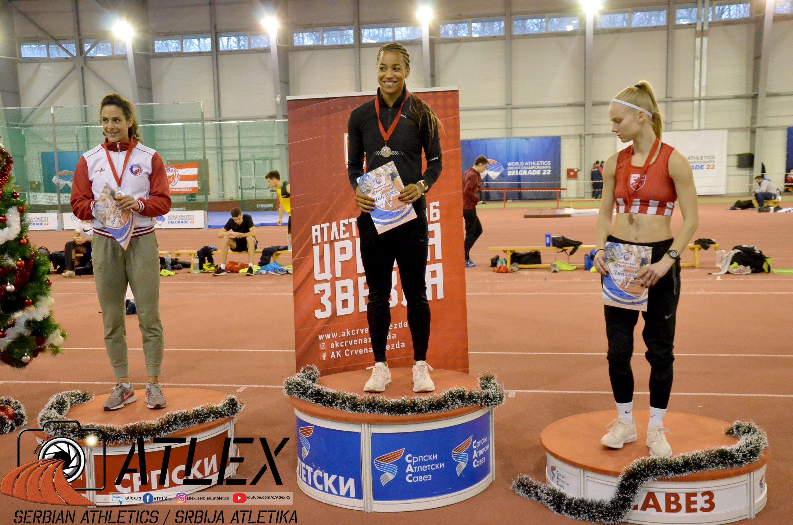 Salome, Tirnanić, Vuletić, Pobednice 60m, Novogodišnji miting Crvene zvezde 2020
