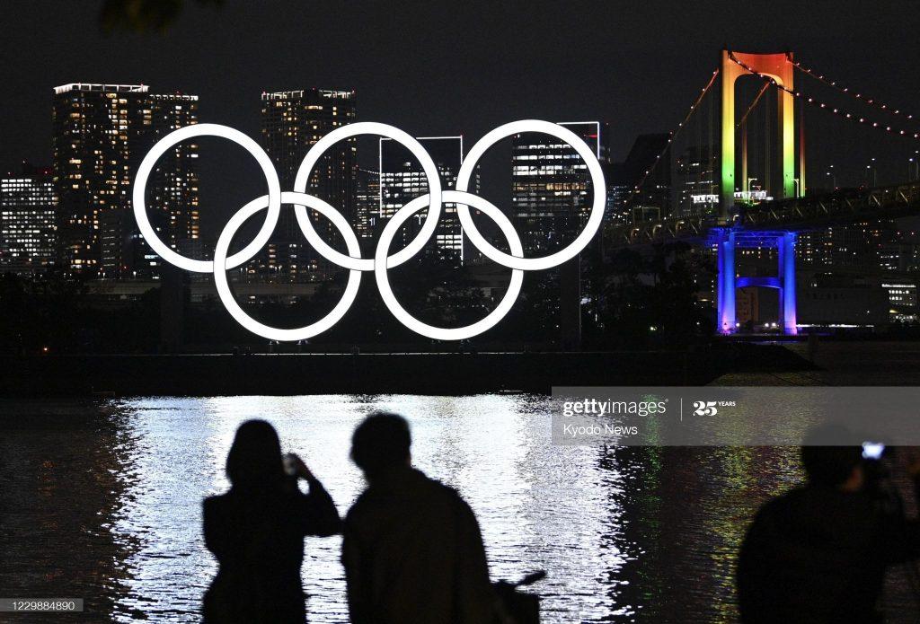 Olimpijski krugovi na Tokijskom zalivu