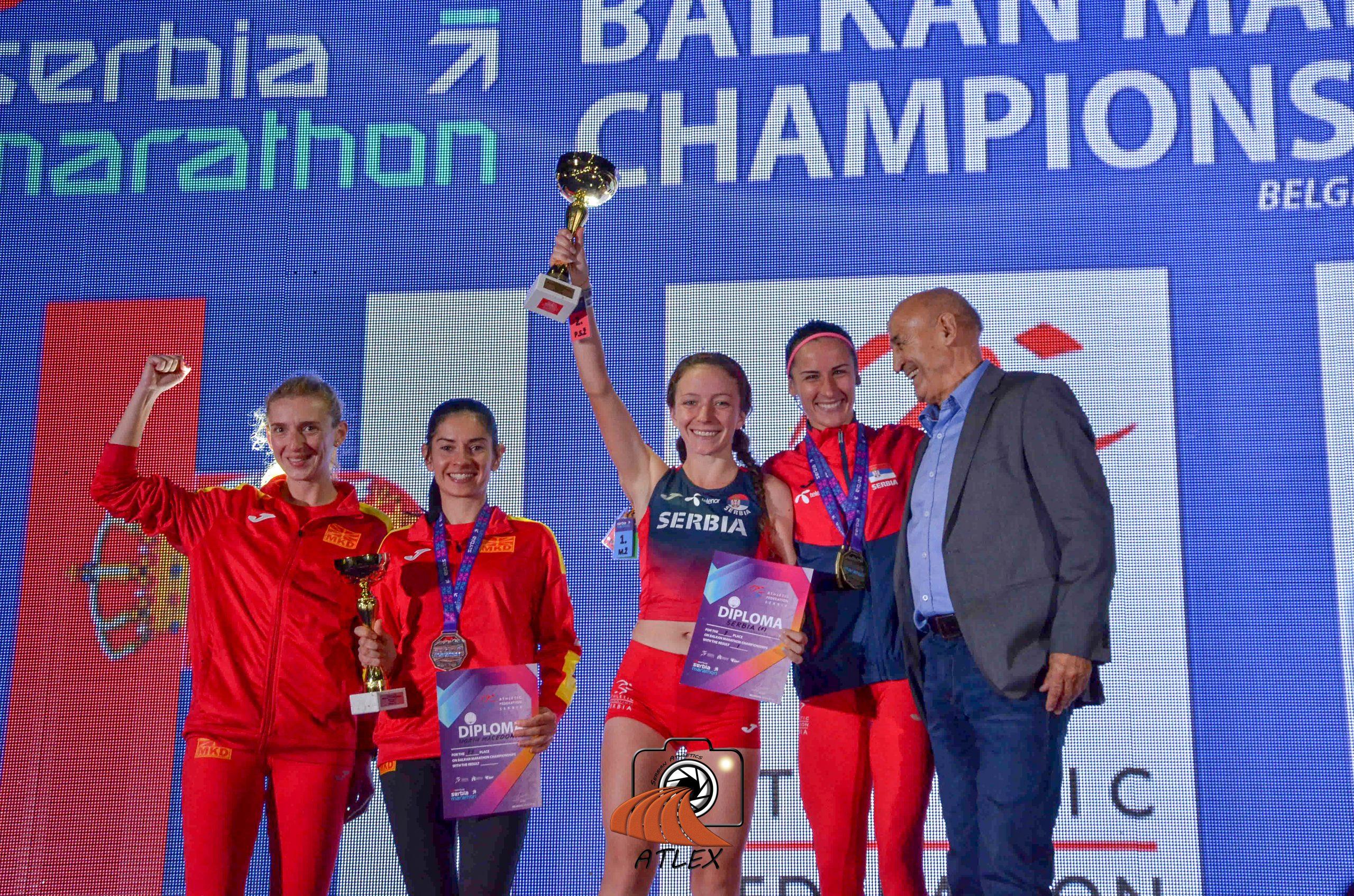 Prvi Comtrade Serbia Marathon, ekipne pobednice Balkana u maratonu: Srbija (Katarinom Pohlod, Teodora Simović), Makedonija (Adrijana Pop Araova, Vesna Kiradzieva)