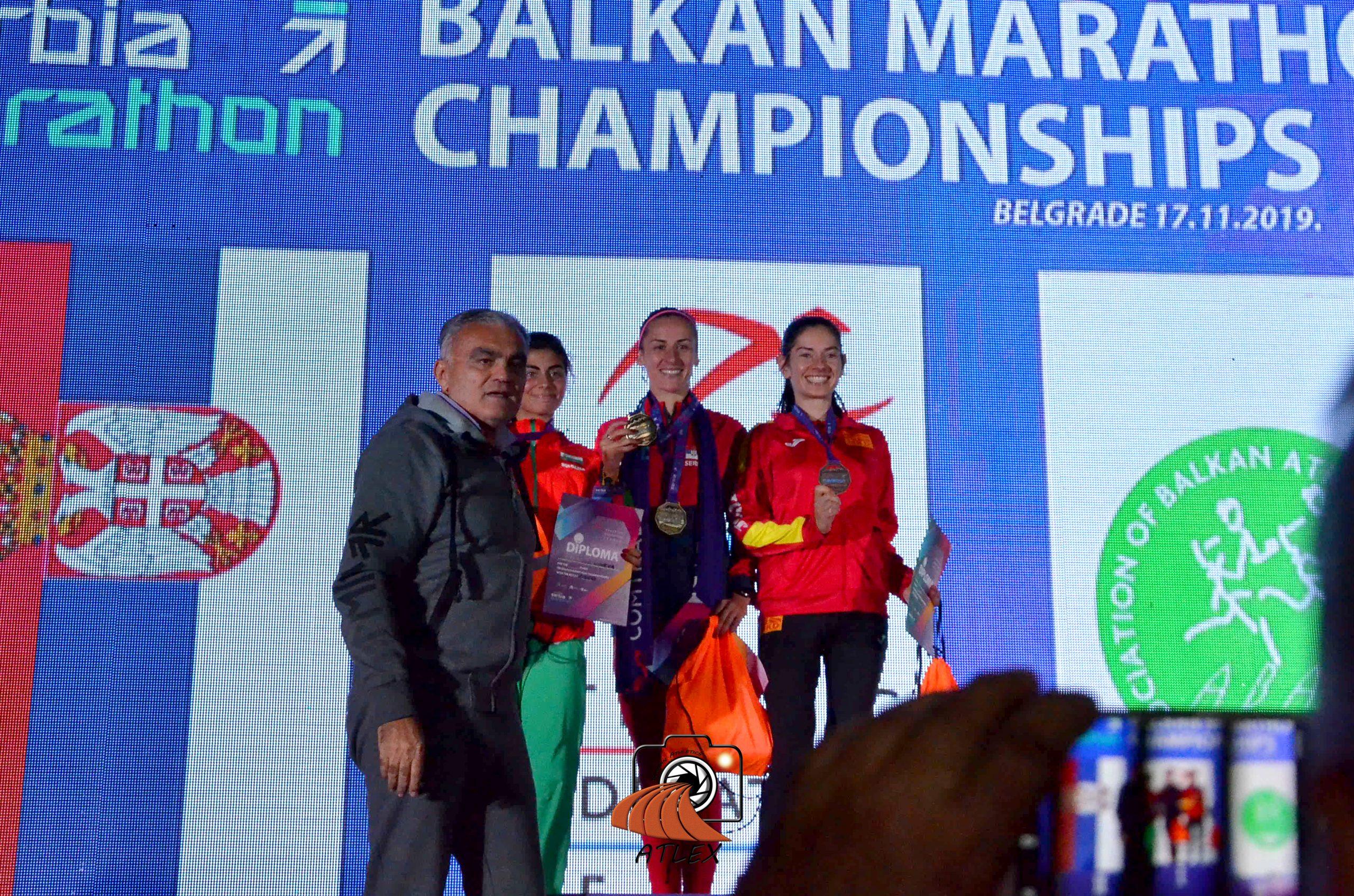 Prvi Comtrade Serbia Marathon, pobednice prvenstva Balkana u maratonu - Marinela Nineva, Teodora Simović i Adrijana Pop Araova;